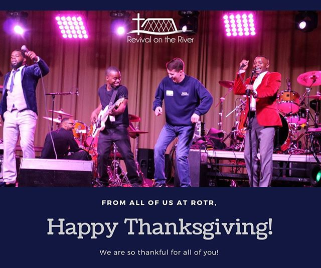 Happy Thanksgiving from Revival on the River! We are so grateful for all of you! 🦃 • • • • • #rotr2019 #unity #christianmusic #thanskgiving #thanksgivingday #thankful #grateful
