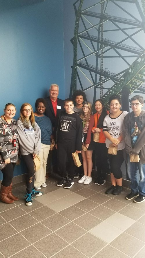 The Manufacturing Day picture was a field trip by some of our middle schoolers on October 6, 2017 to American Testing Services in Miamisburg Ohio. They learned about different career options in the technological and testing fields.