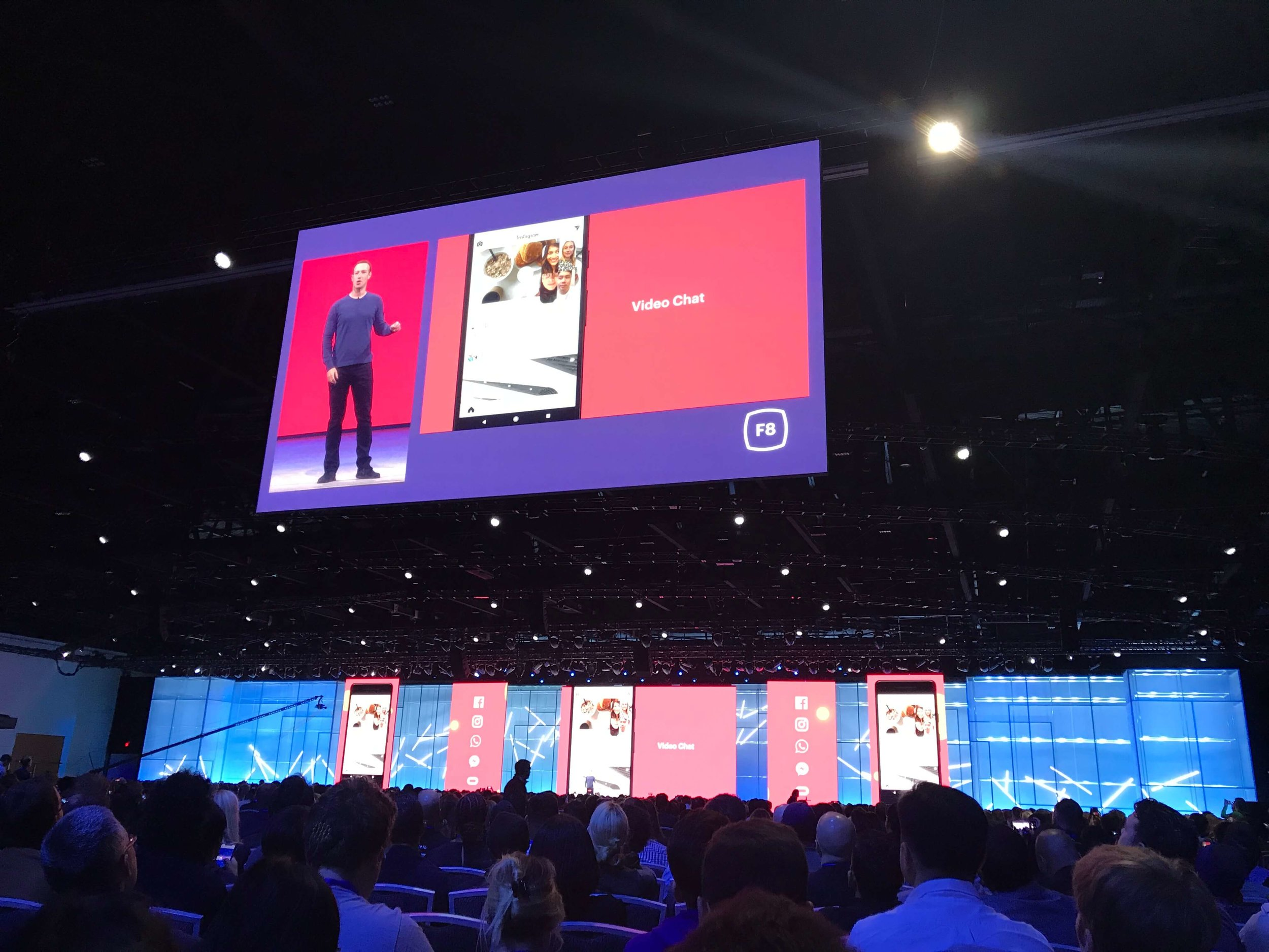 Facebook F8 new Instagram Group Video Call feature