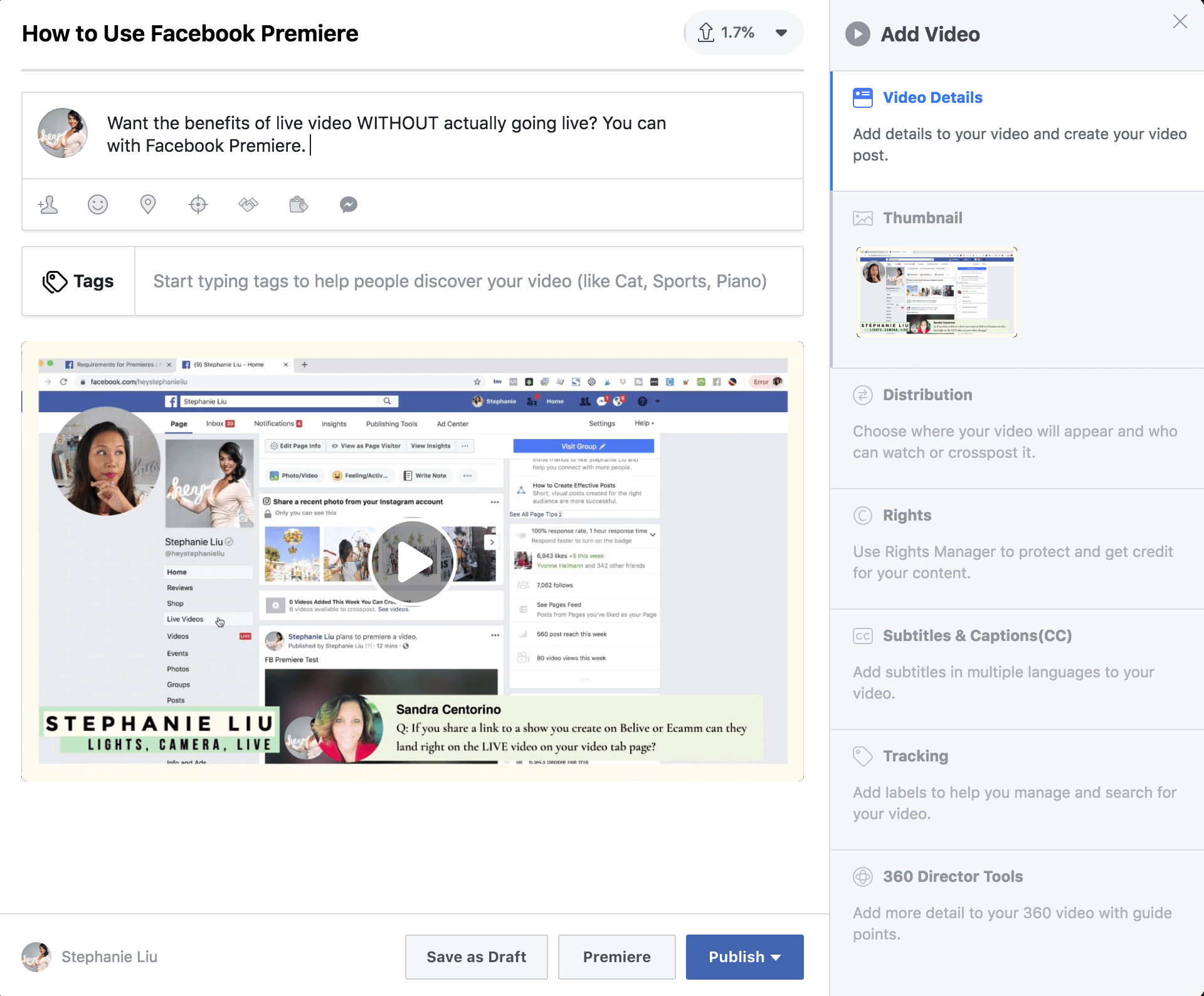 How to Use Facebook Premiere: The Ultimate Guide — Lights