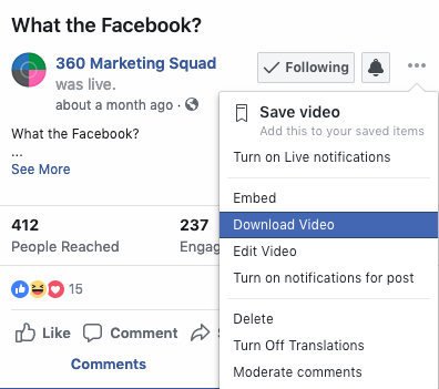 How To Get Facebook Live Videos Into Search — Lights, Camera