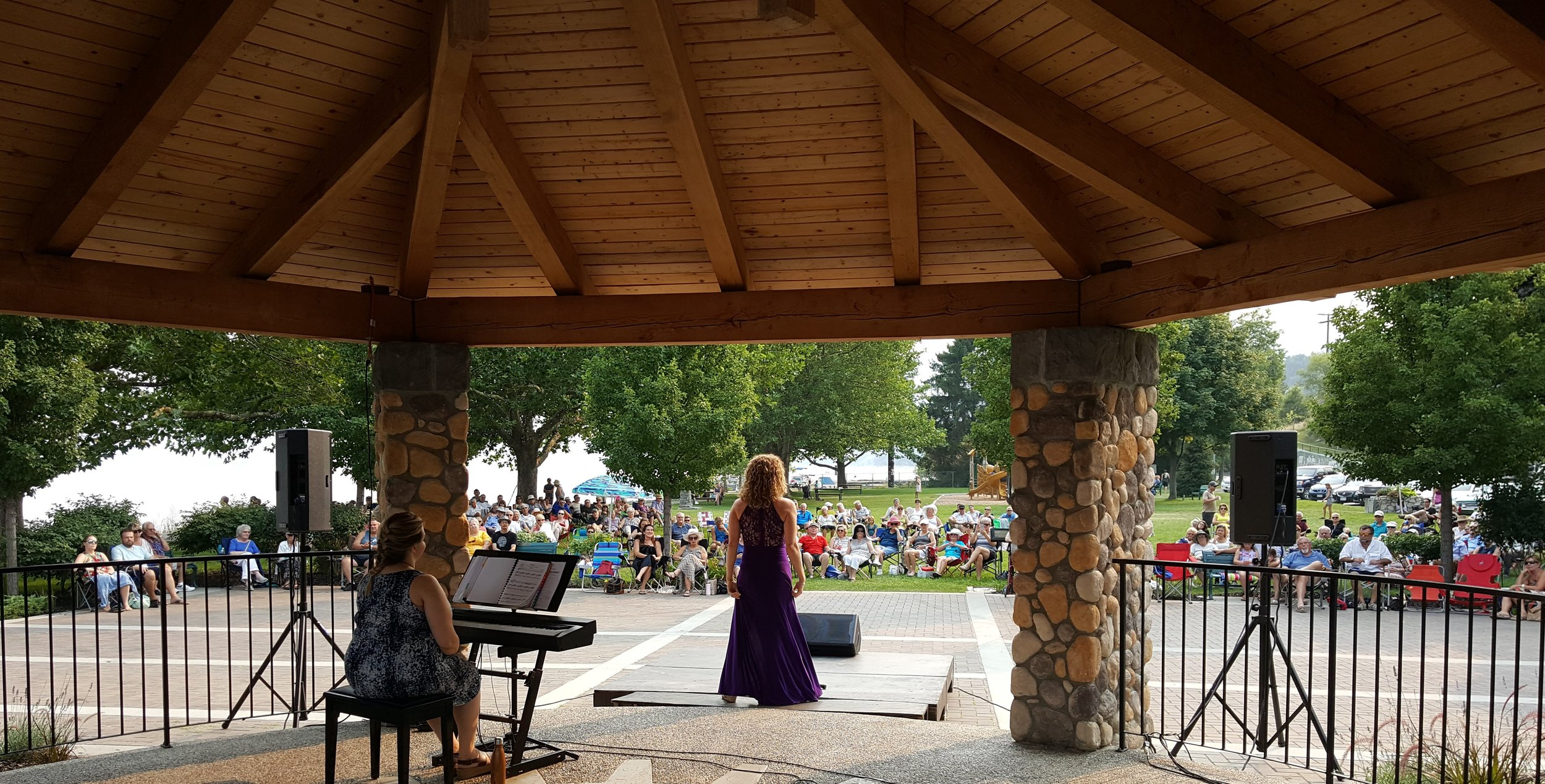 Mezzo-soprano Barbara King performs at the Opera in the Park, Guisachan Park, KELOWNA , on Aug 3rd, 2017