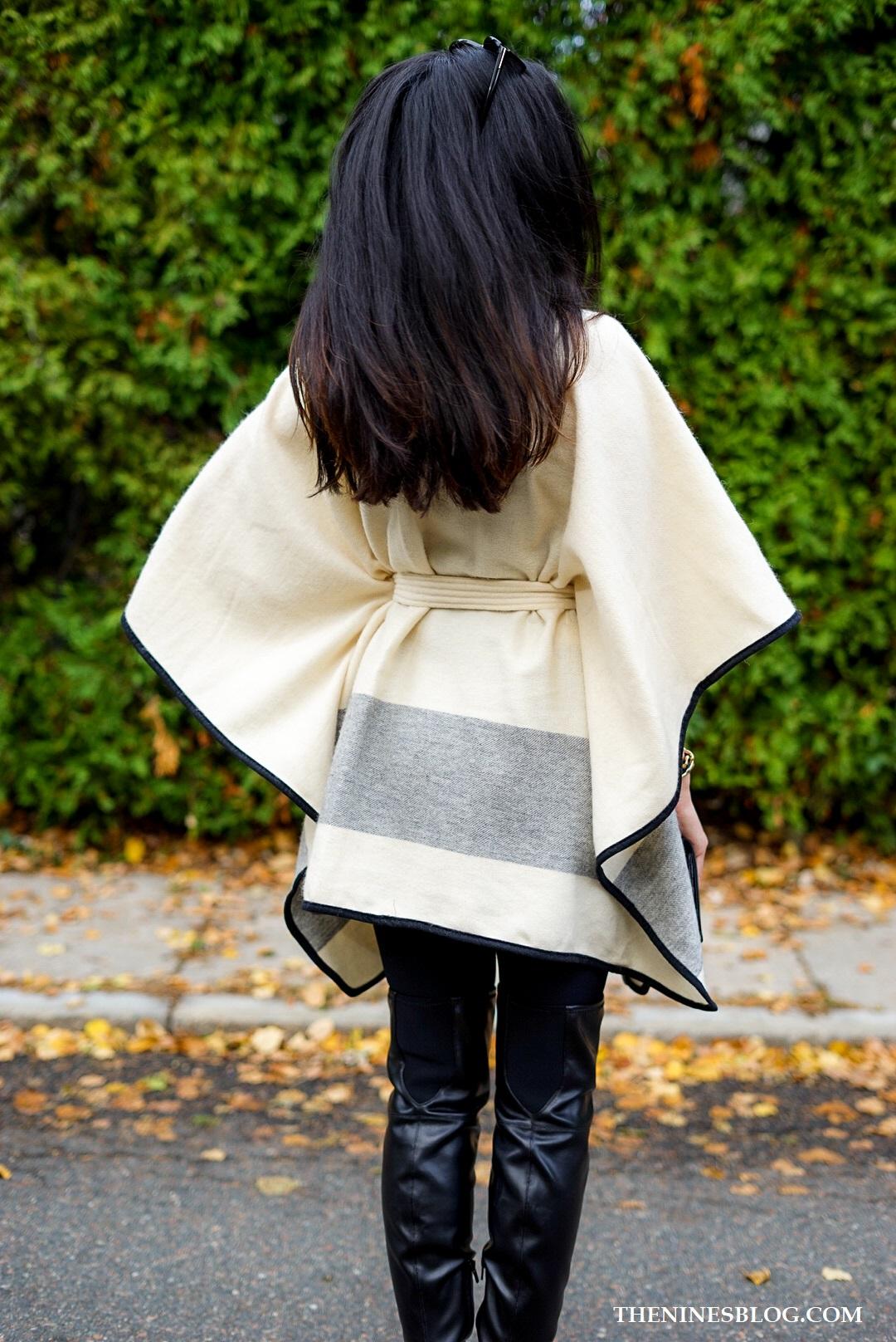 Fall Cape Kimono - TheNinesBlog.com : A Boston Blog