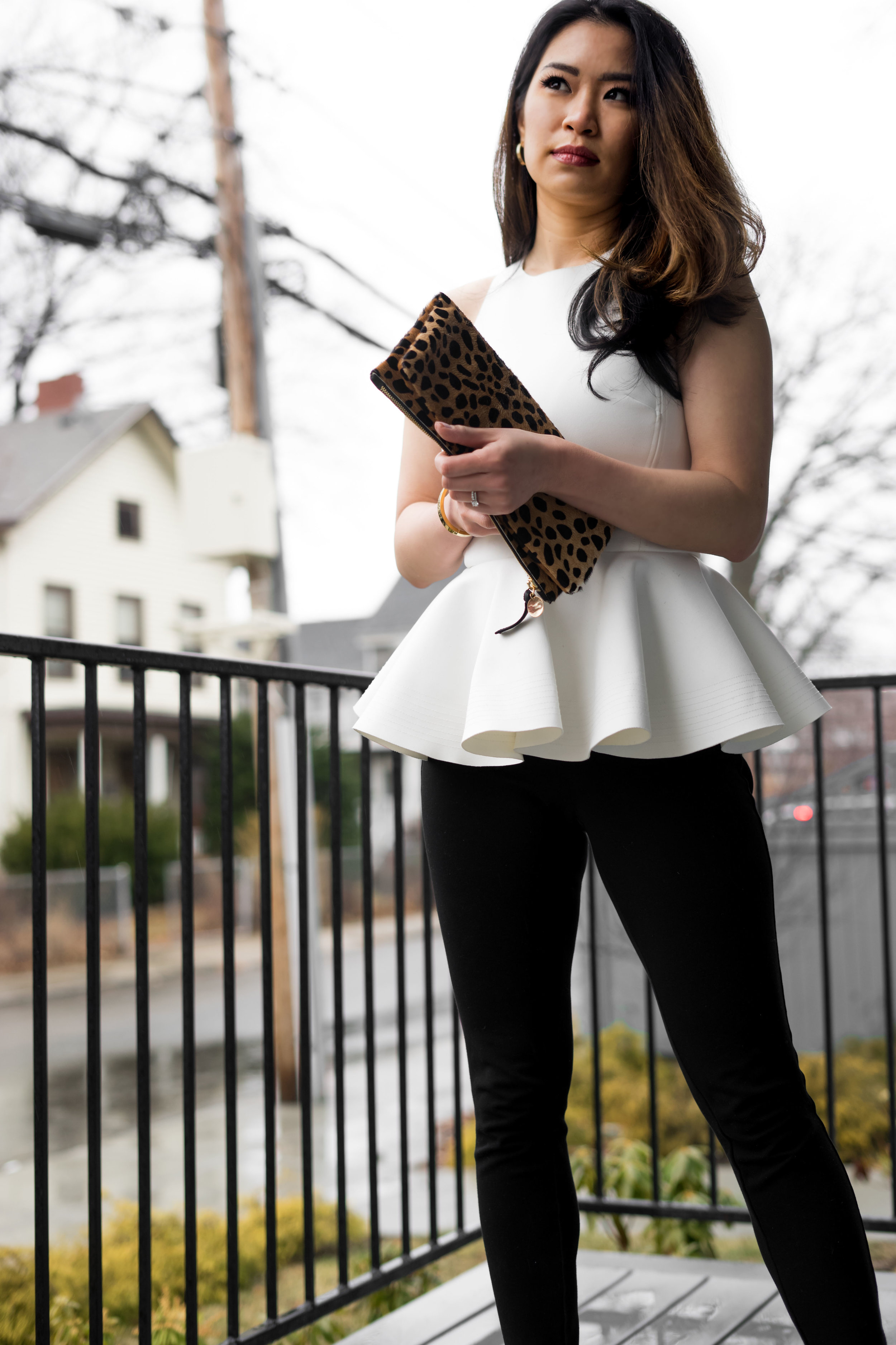 Stand out with White Peplum Top: TheNinesBlog.com - A Boston Blog