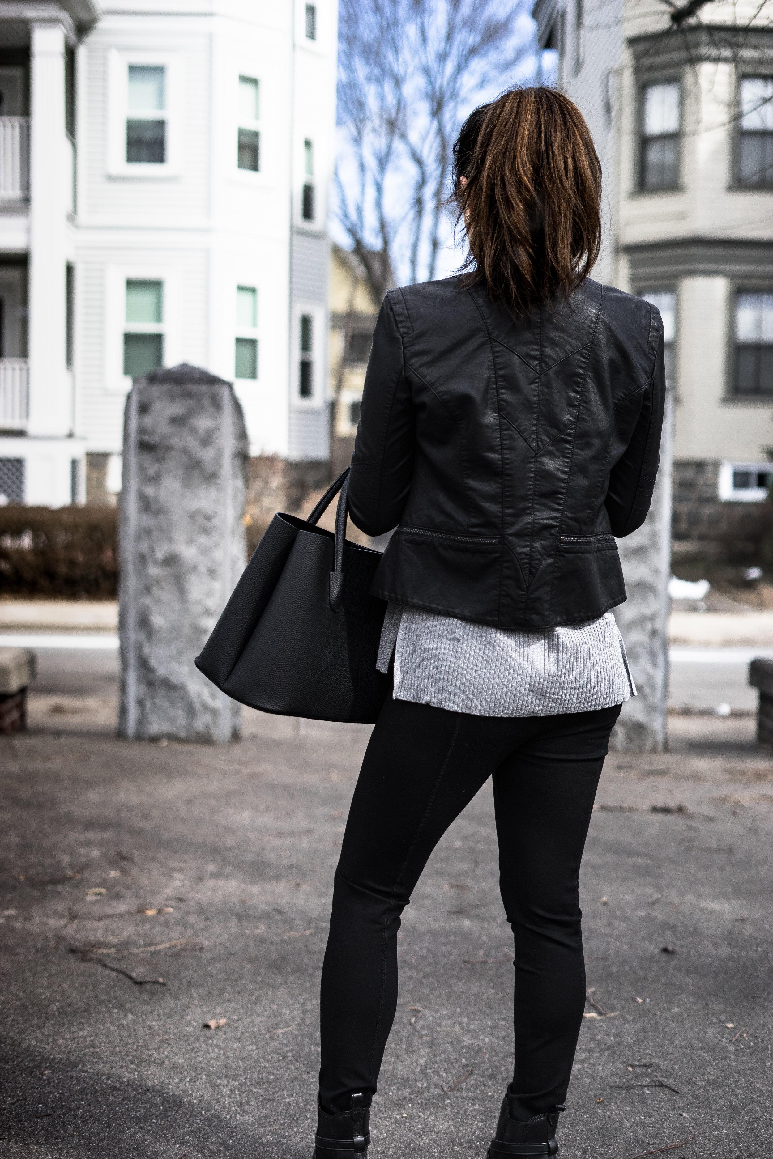 Moto Jacket for Transitional Weather: TheNinesBlog.com - A Boston Blog