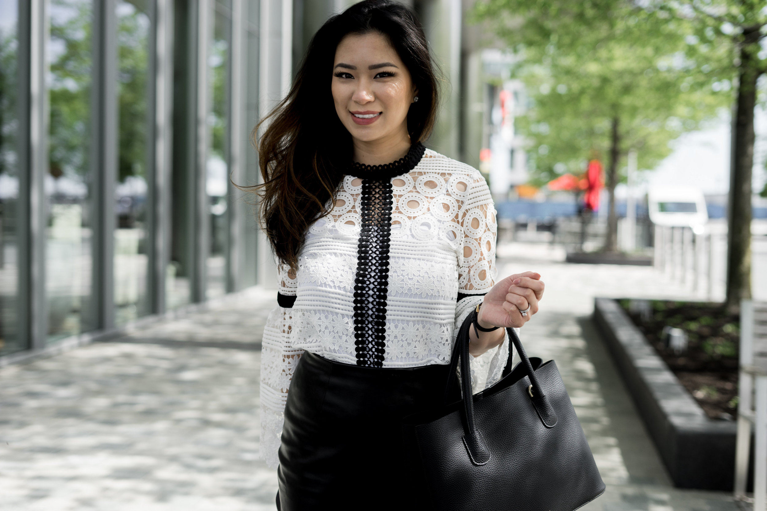 Change Up Corporate Wear with A Crochet Top: TheNinesBlog.com - A Boston Blog
