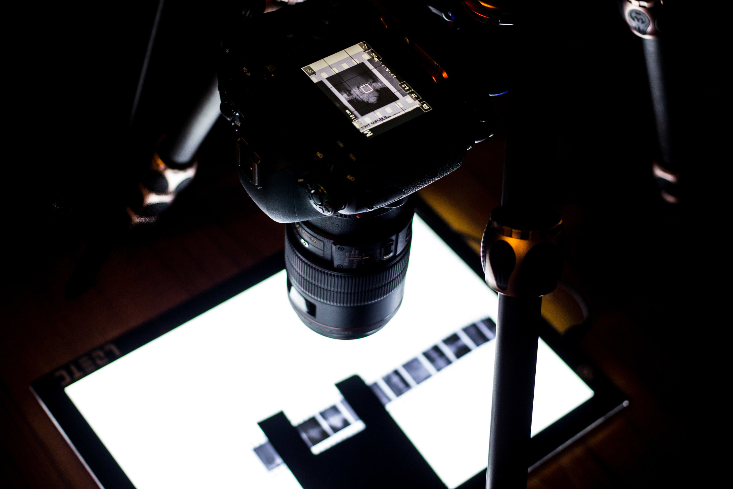 Using a 6D Mark ii and a lightbox to scan 35mm film