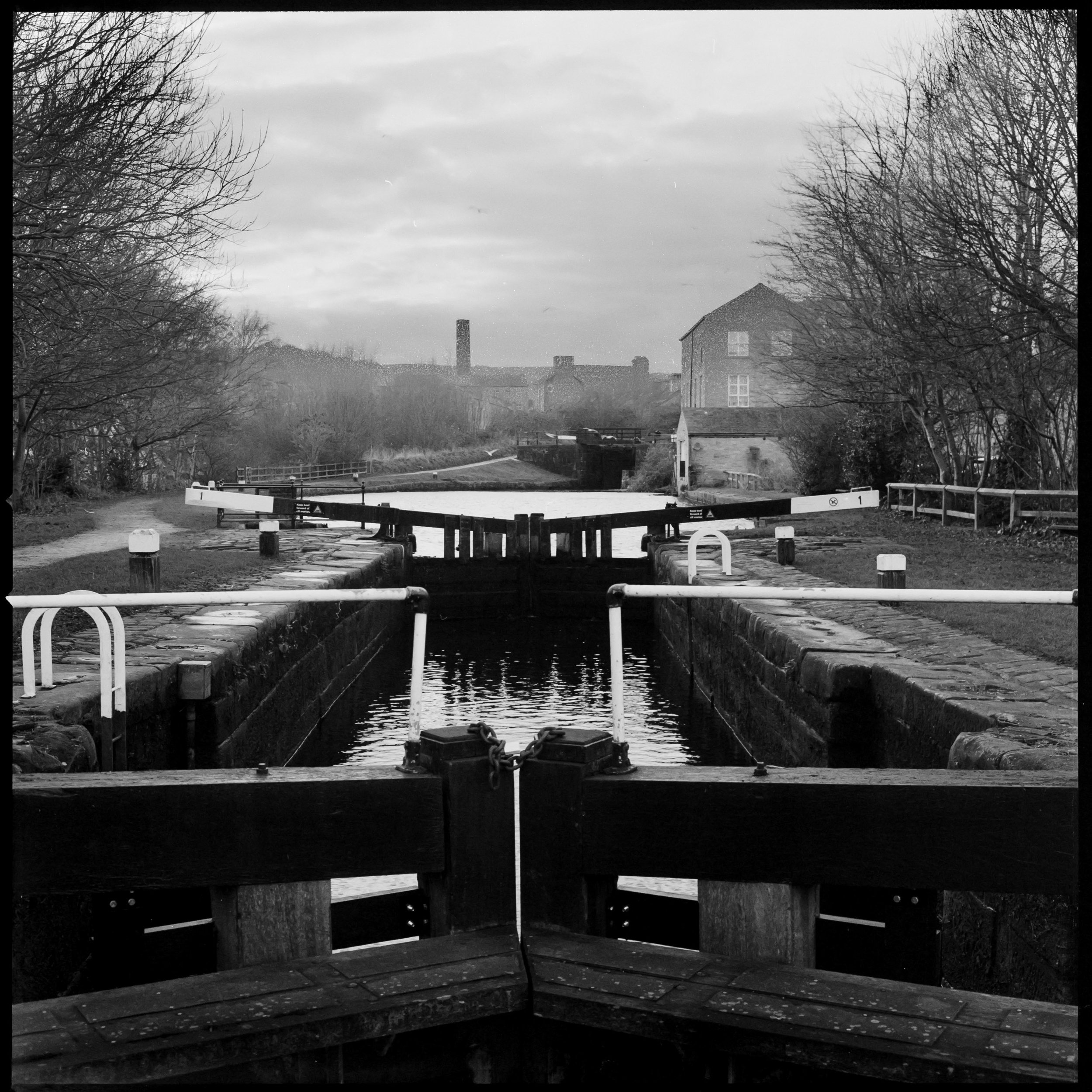 Sowerby Bridge canal, Halifax. Hasselblad 500cm, Ilford HP5.