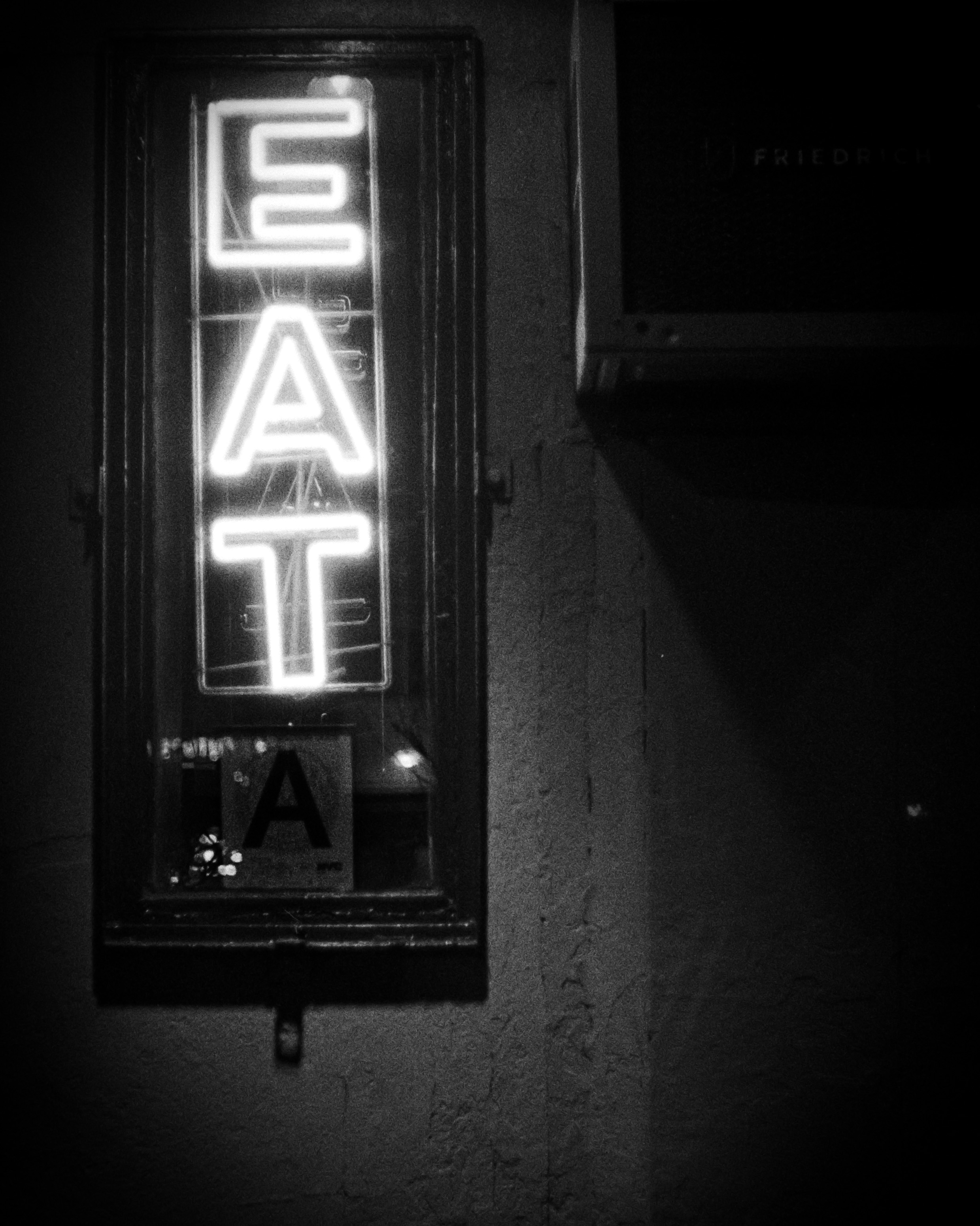 Neon sign, downtown New York
