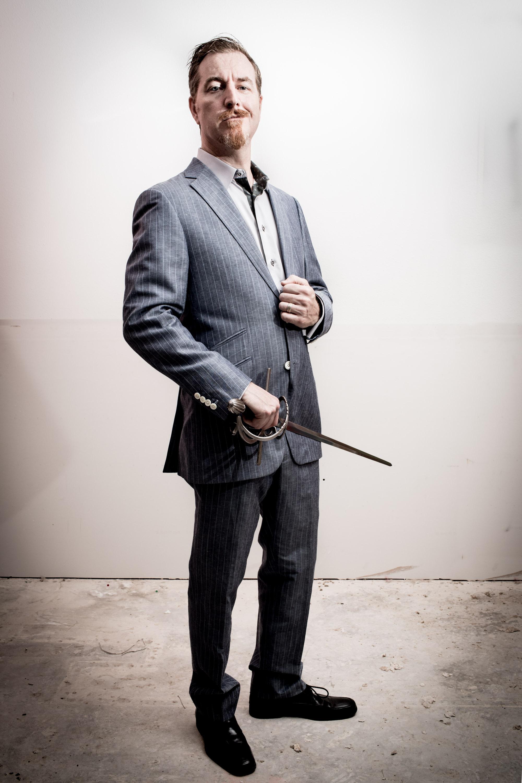 Suit and Sword portrait Houston