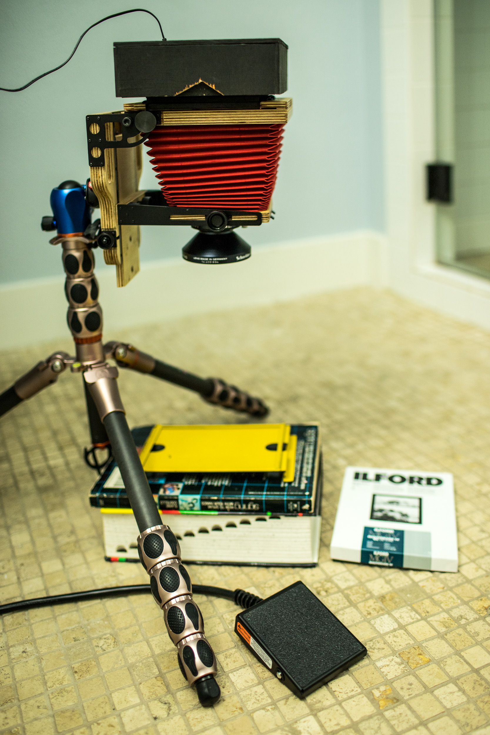 DIY enlarger from an Intrepid 4x5 camera