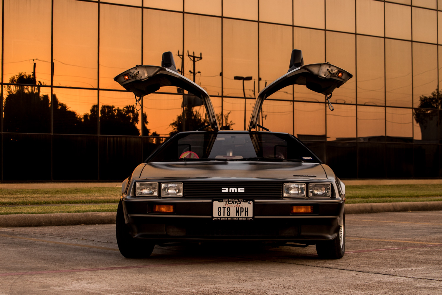 DeLorean sunset Houston