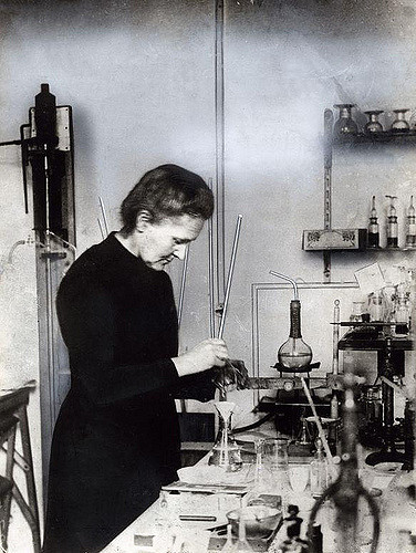 Age of Ecology - David Attenborough's favorite essays on ecology - Marie Curie in lab.jpg