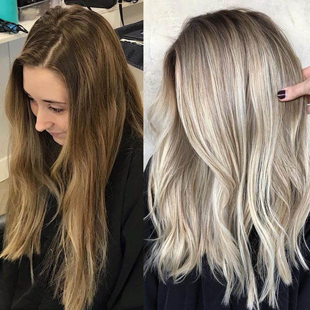 Awesome transformation @hairby_chrissy 💕 #repost • • • Before & After 😍   by #hairby_chrissy & @hairandmakeup_byjen
