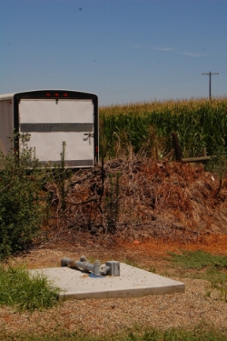 A private, domestic well on rural property outside of Visalia in Tulare County where one of the authors lived during fieldwork. Photo by A. Fencl
