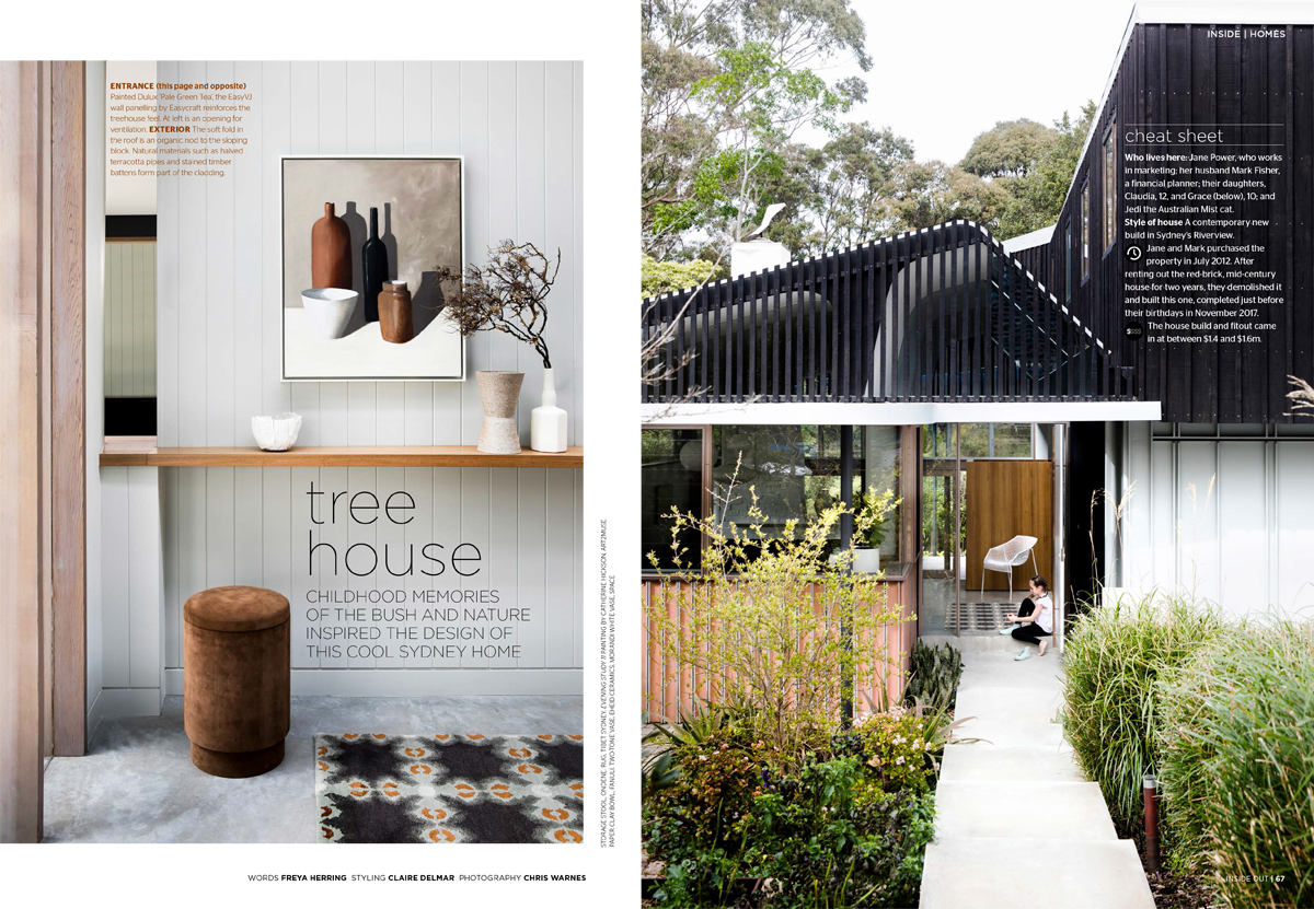 May proved to be an exciting month in the press for the studio with Inside Out magazine featuring two homes styled by Studio Delmar. Riverview house is an architecturally designed, modern Australian home, which featured soft curves and natural finishes allowing us to further layer in earthy tones, organic shapes and a curation of art in softly painted strokes.  Collections of ceramics layer the shelves alongside modern furniture, all working together to create a warm and comfortable family home.  Riverview house featured in  Inside Out  Magazine May 2019. Architecture  David Boyle Architects , Photography  Chris Warnes , Styling  Studio Delmar , Words  Freya Herring .