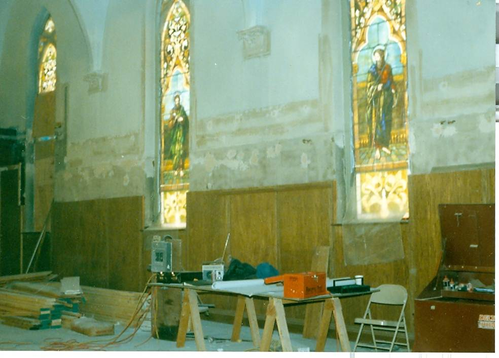 Our Lady of Lourdes during the 1991 Renovation