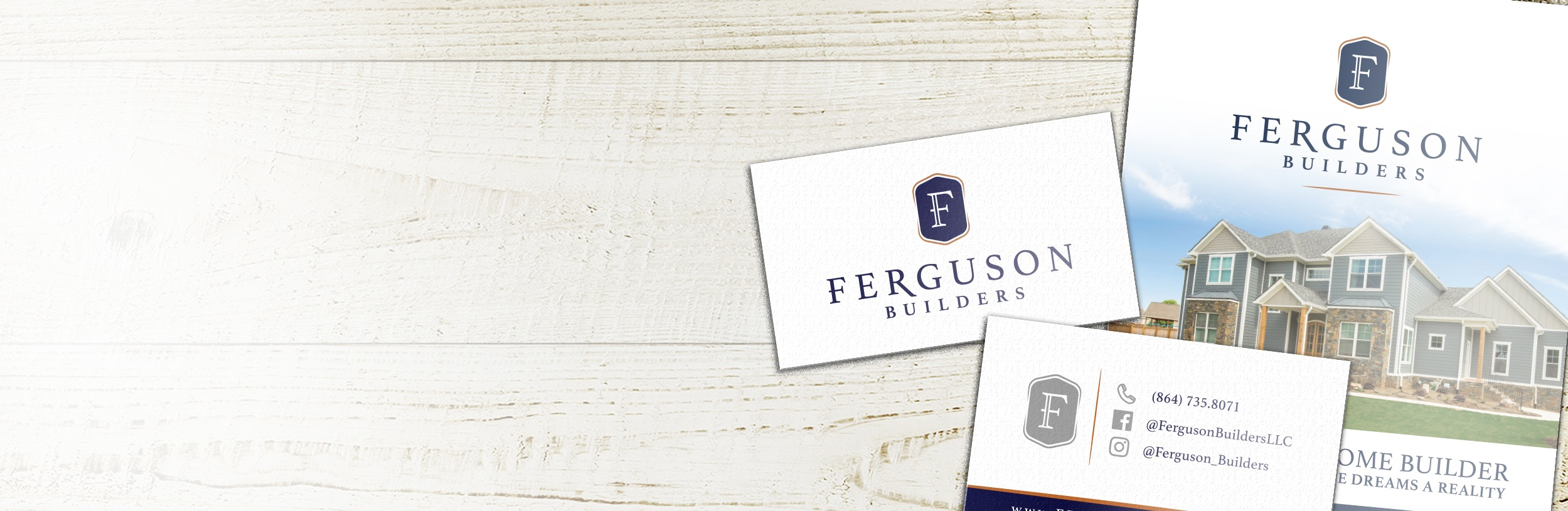 Ferguson Builders - Logo, Brand, Website Design