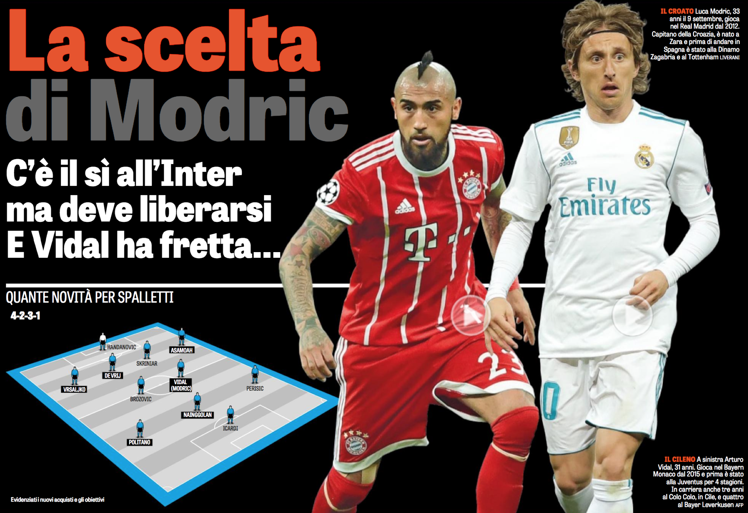 The Choice Of Modric The Croatian Loves The Idea Of Playing For Inter And Has Said Yes Fedenerazzurra