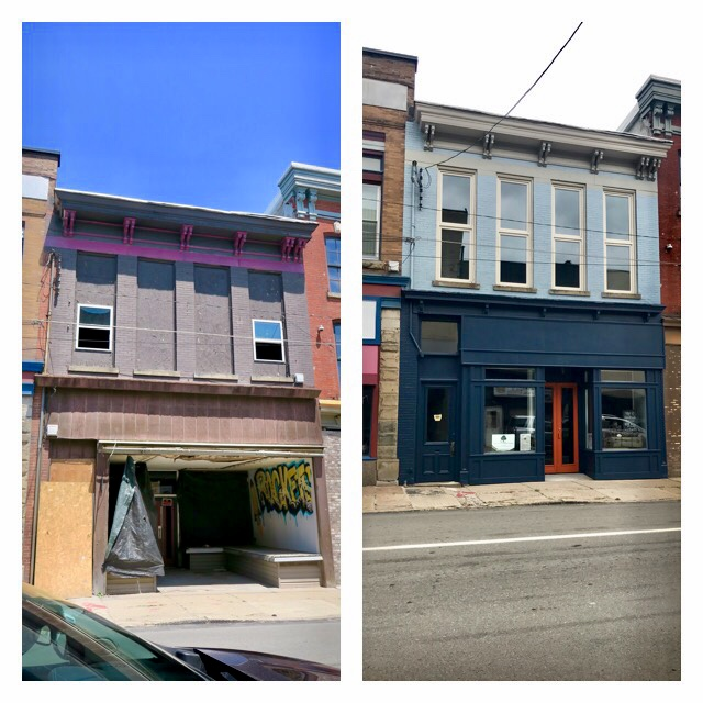 Before  &    After - Watch our progress as we turn a burnt out, water-logged shell of a building back into an attractive storefront.