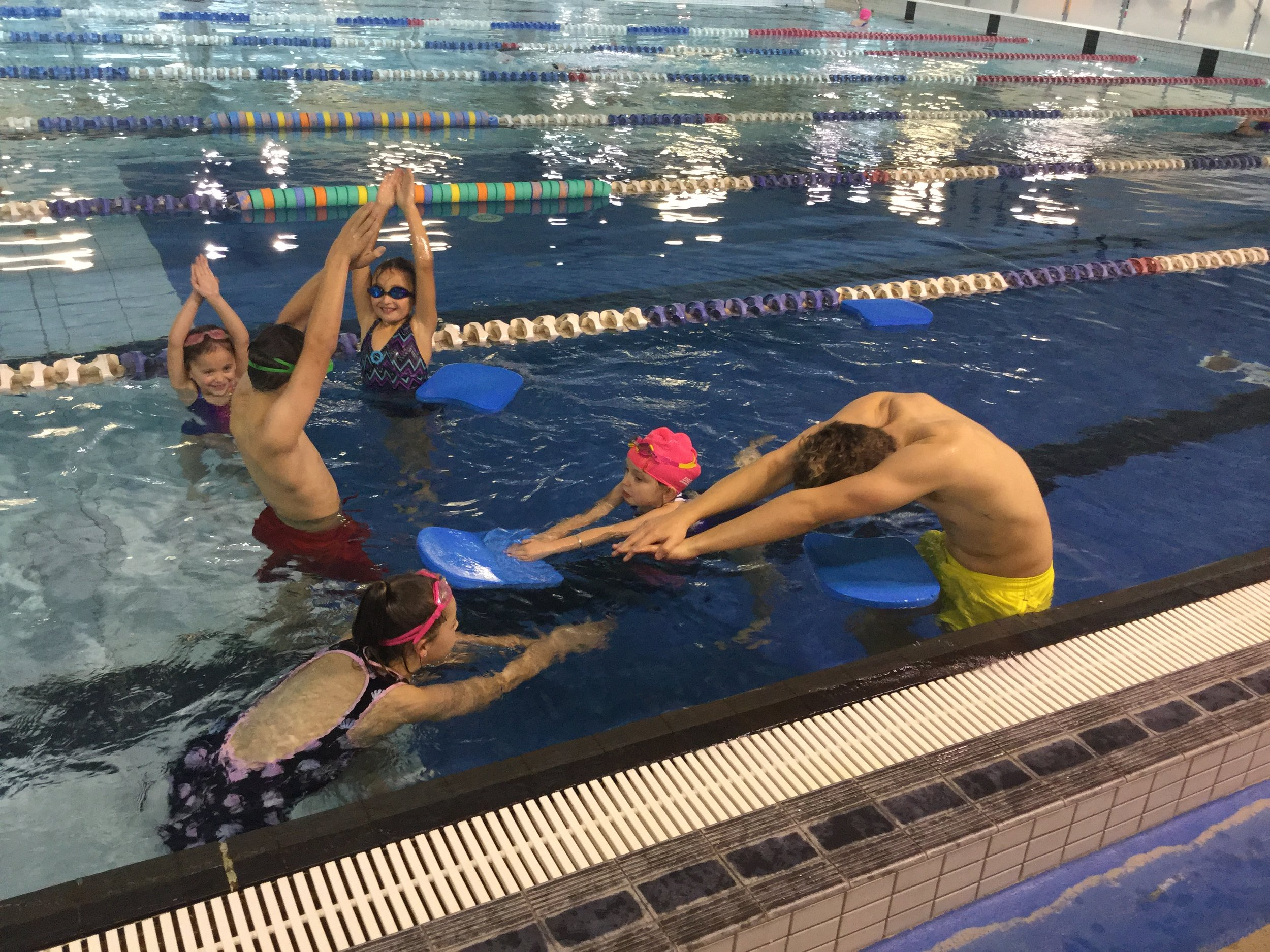 some keen new swimmers during a lesson
