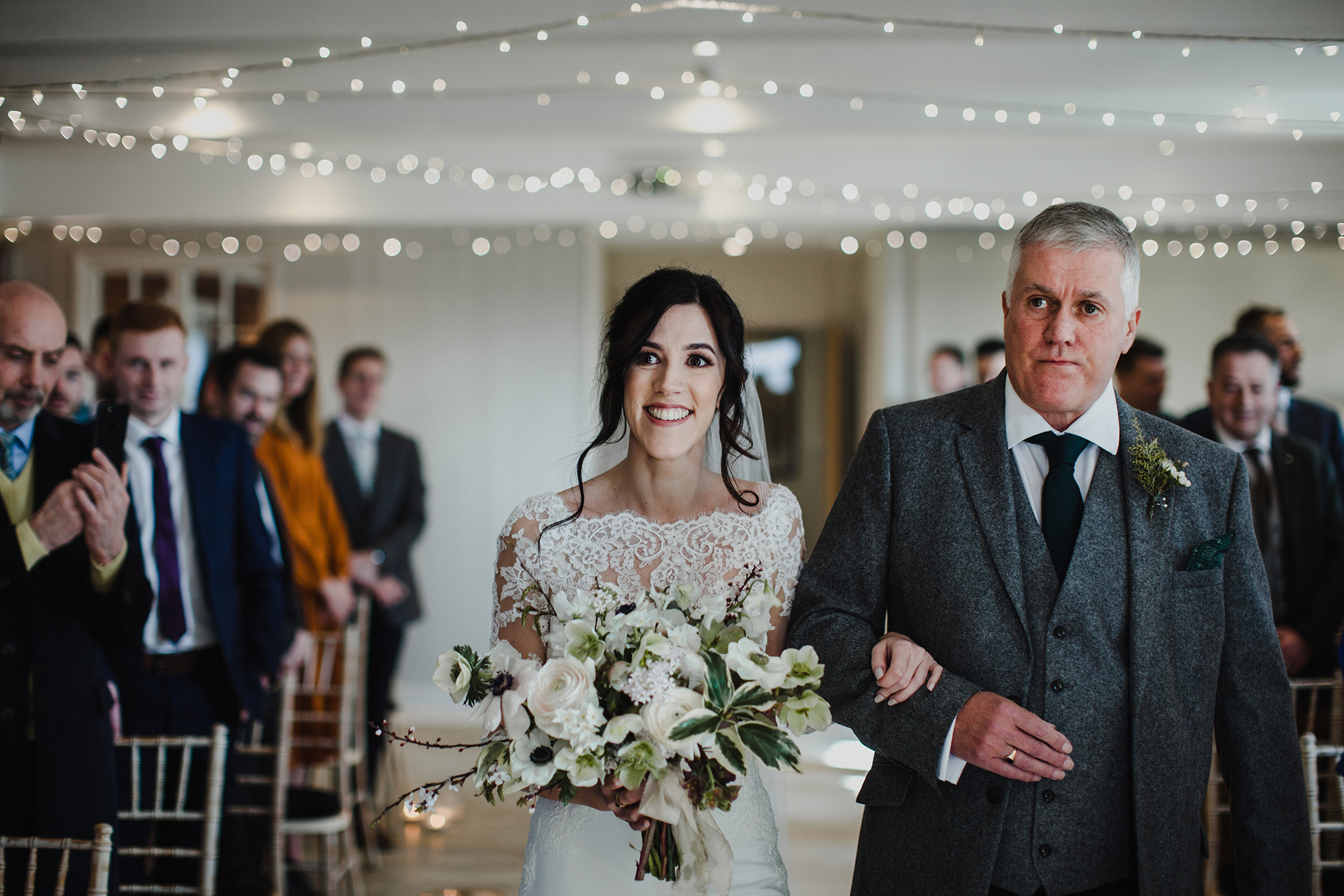 A nice moment between the bride and her father