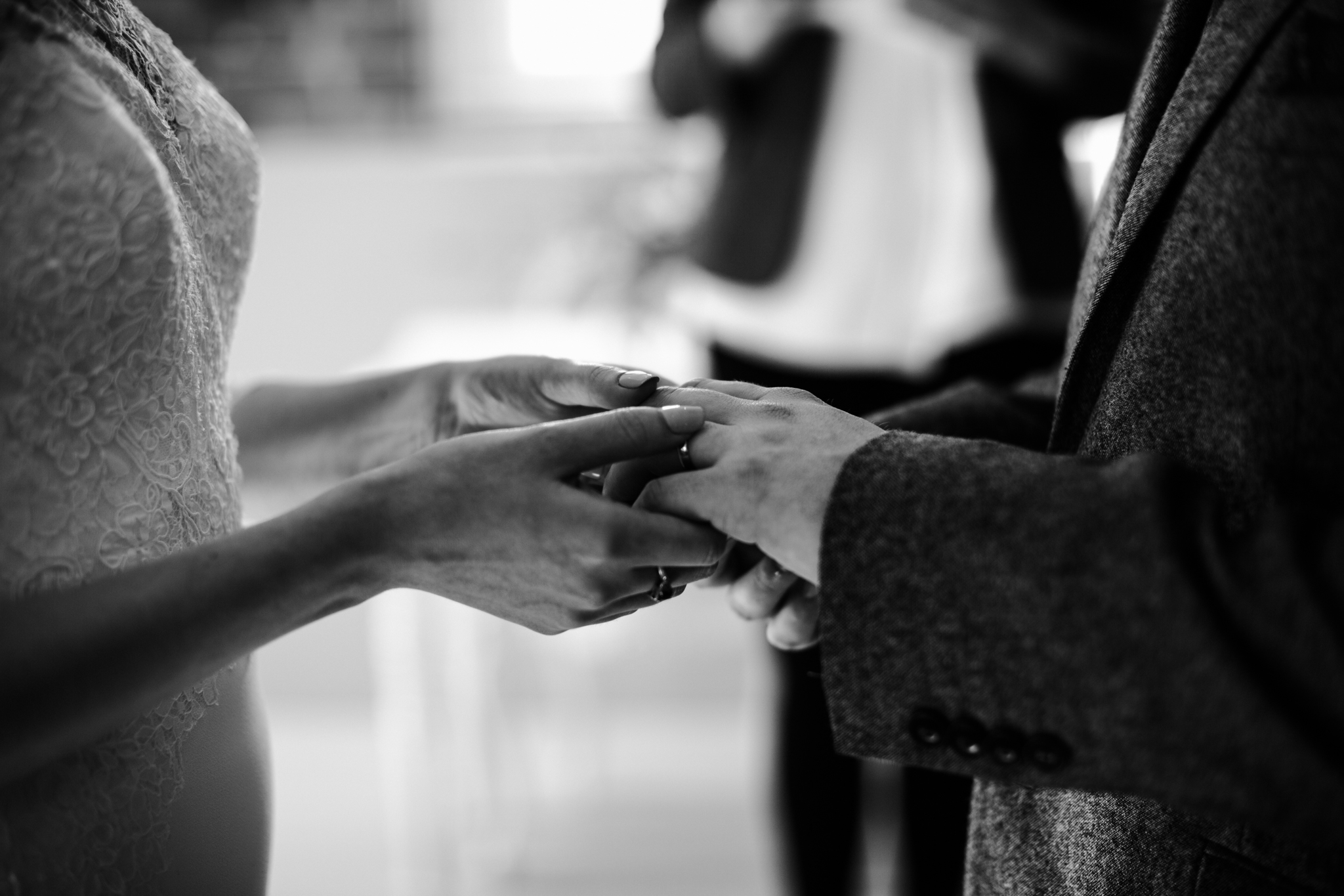 Ring exchange at wedding