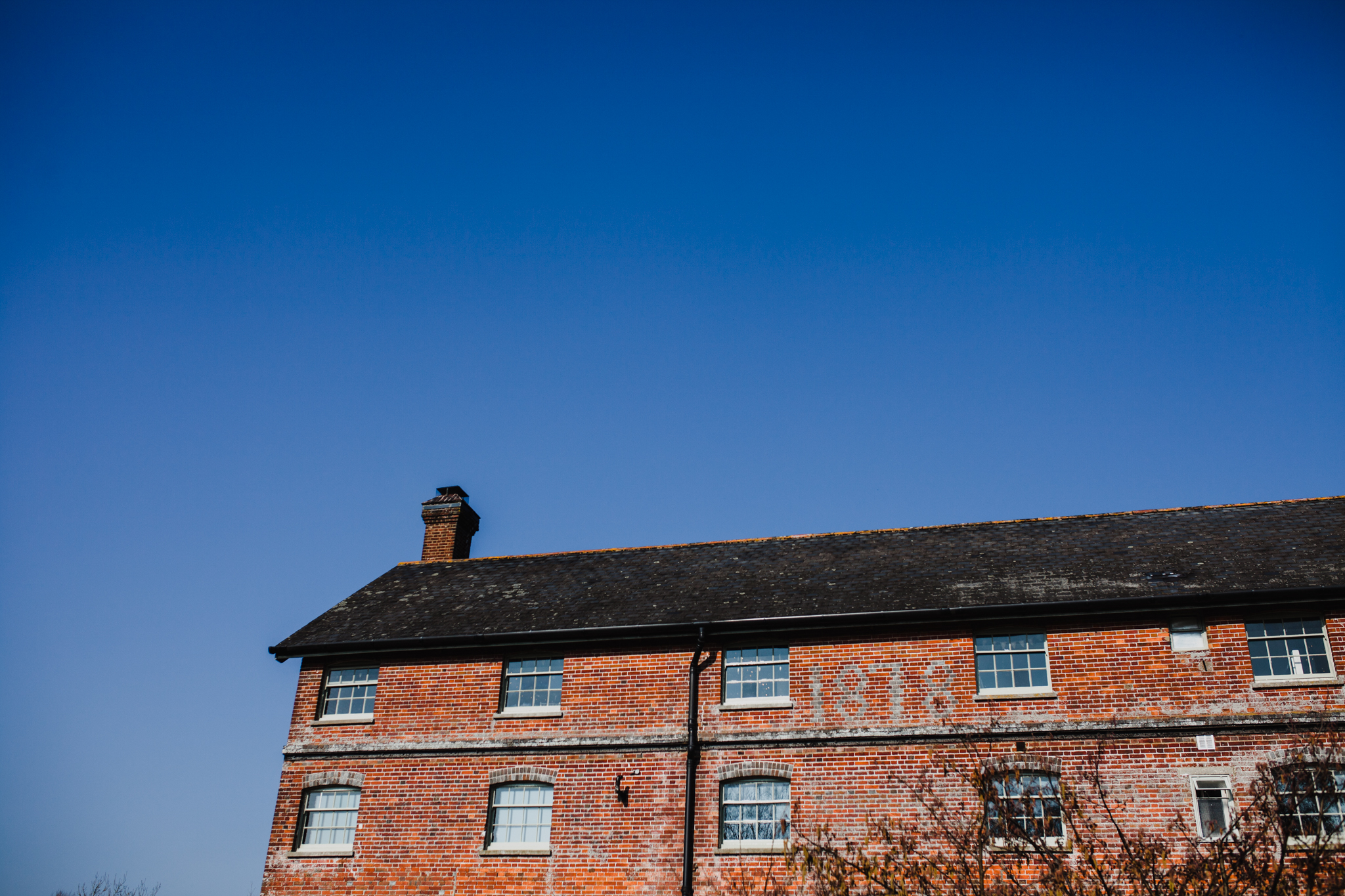 Sopley Mill on a bright sunny day