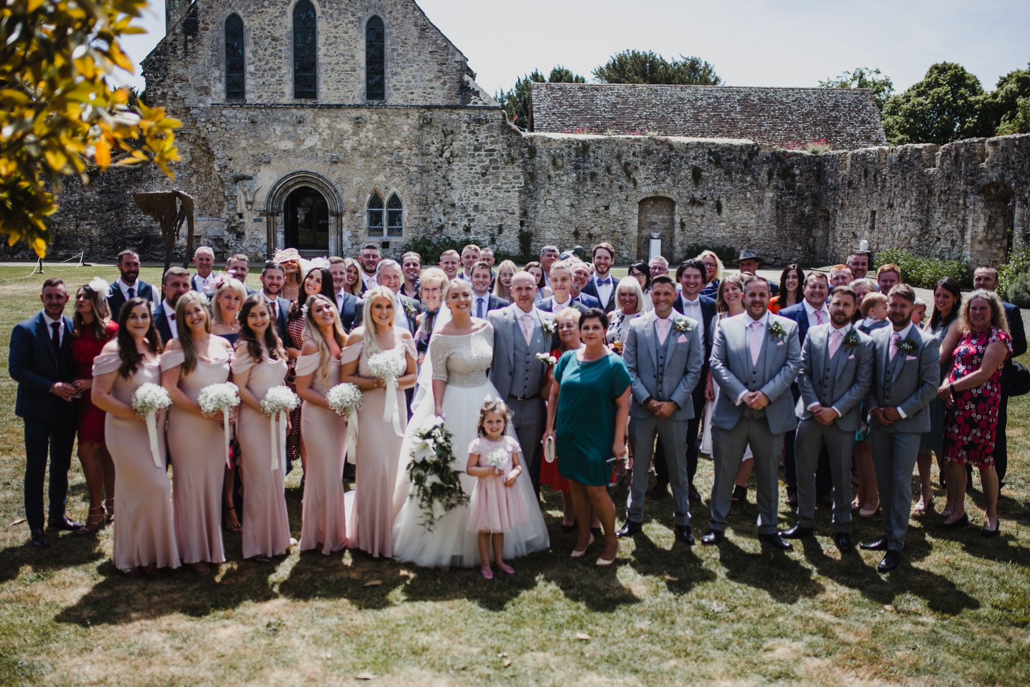 Grouo photo of wedding guests
