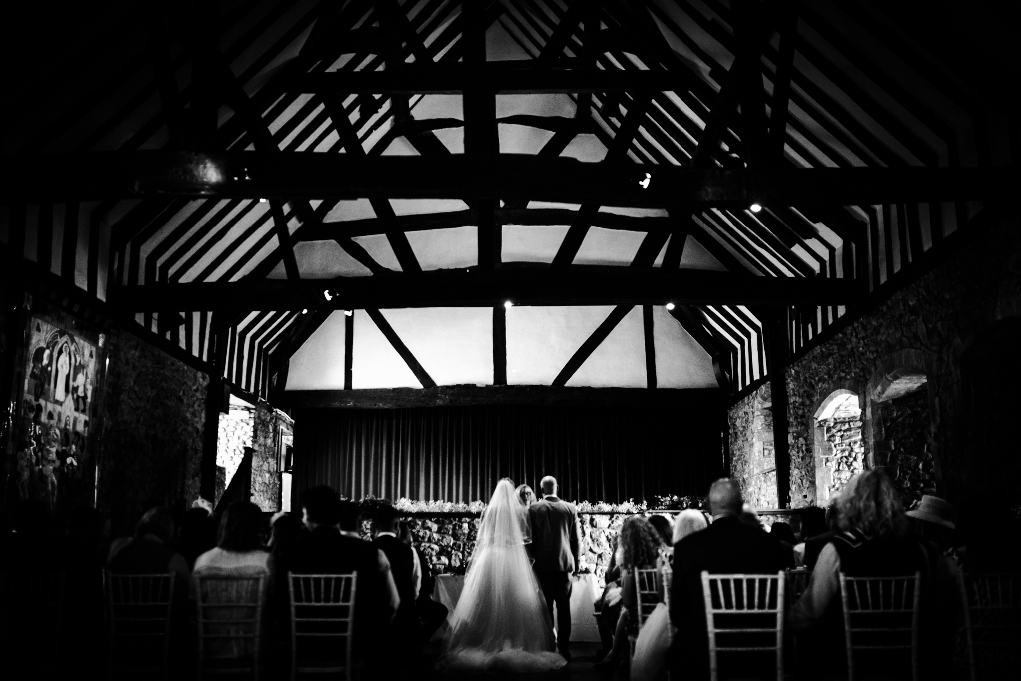 Detail of a tudor style wedding venue