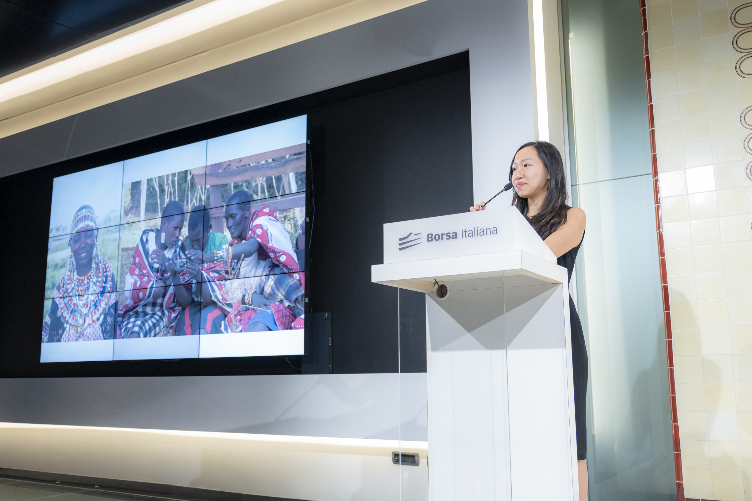 """Keynote speech at """"Ring The Bell for Gender Equality"""" event at Borsa Italiana (Italian stock exchange) on 8th March, 2019 in Milan, Italy. There were over 120 attendees."""