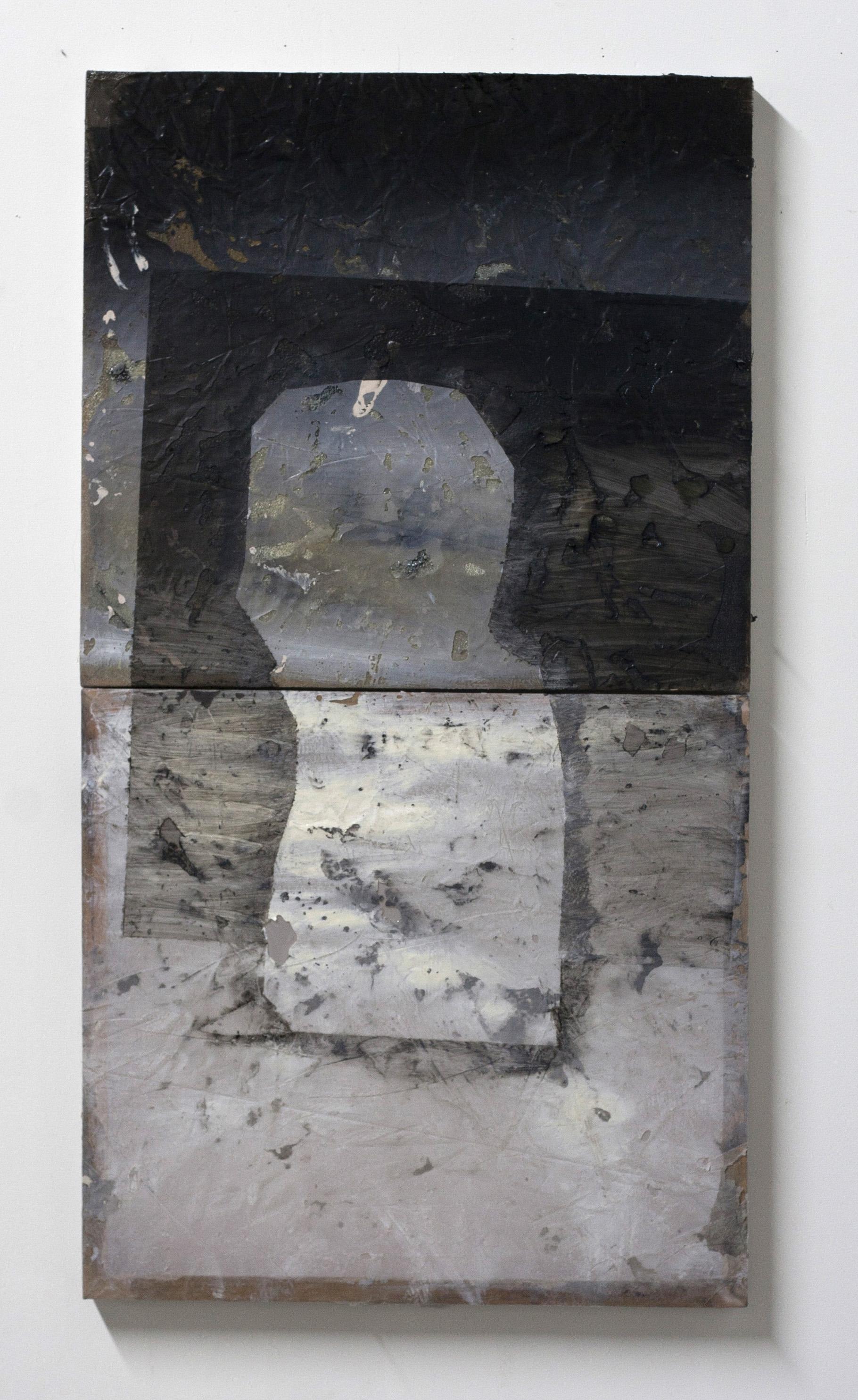 "Untitled , 2016  oil, acrylic, resin  35 x 19"""