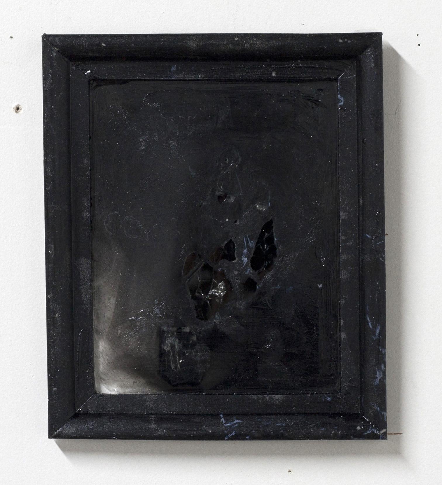 "Alphabet Series I, 2016-17  oil, fiberglas, resin  7.5 x 9"""