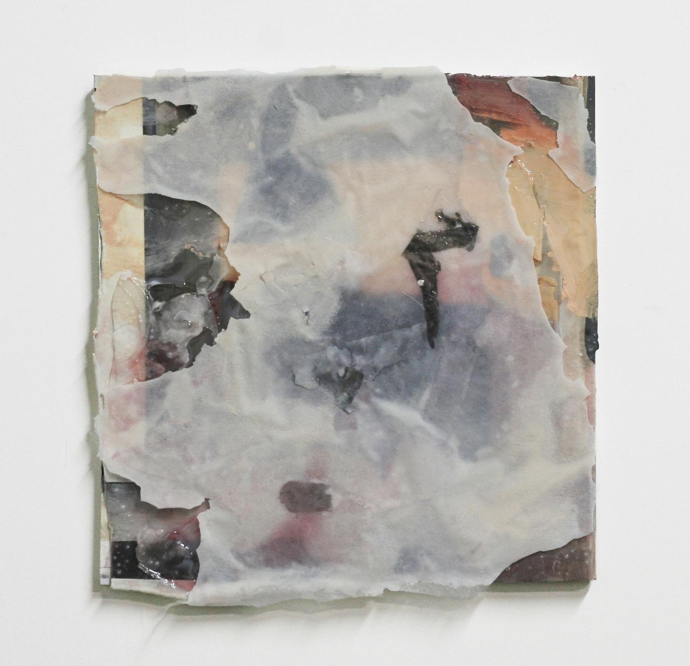 "Sundown, 2016  oil, fiberglas, resin  15 x 15"""