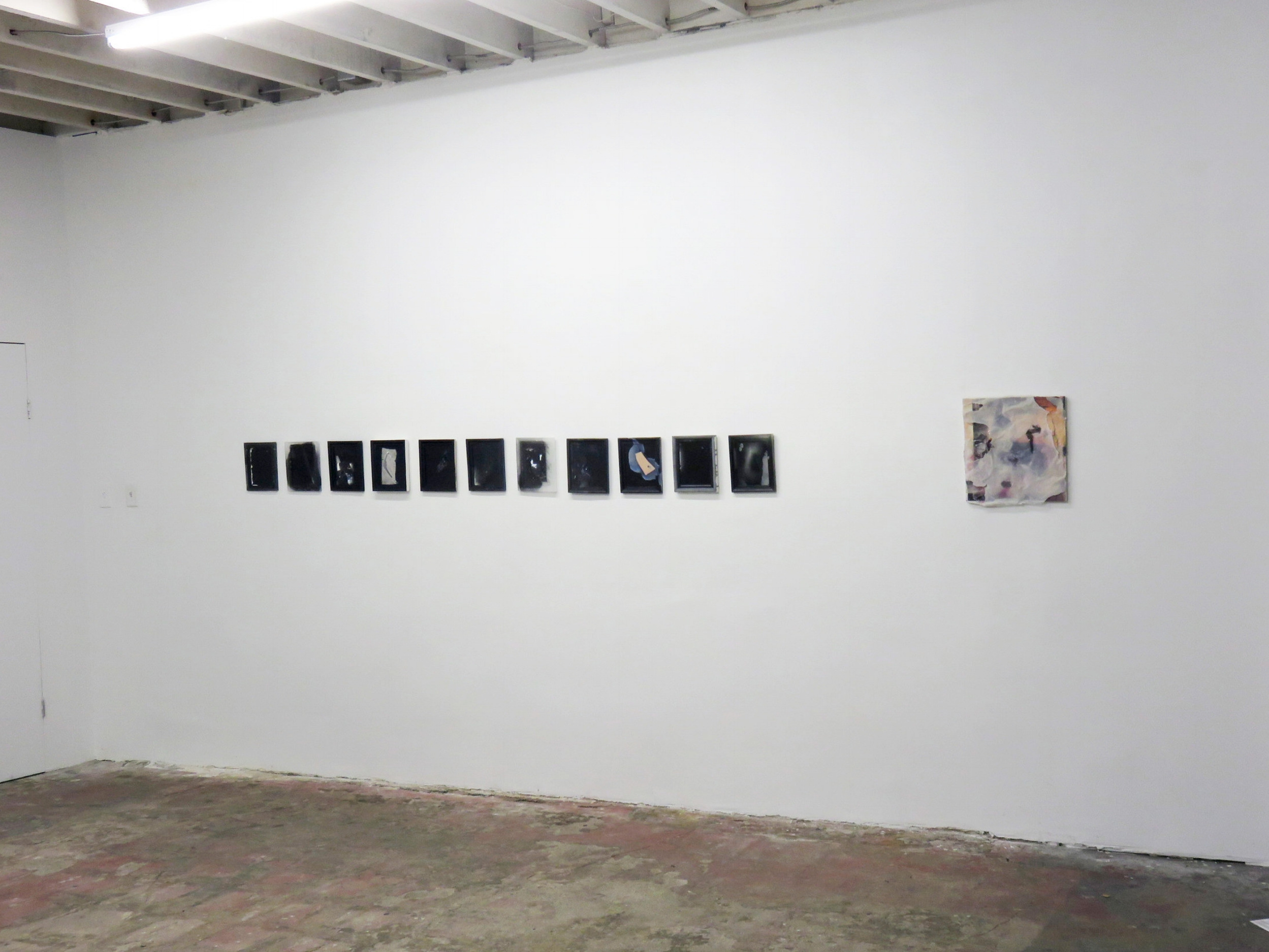 Installation view , 2017   The Back of Something Missing   Ms. Barbers Gallery