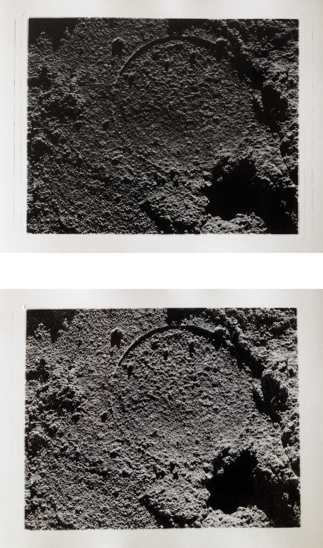 "Atacama Surface II, 2017  silver gelatin prints  8 x 10"" diptych"