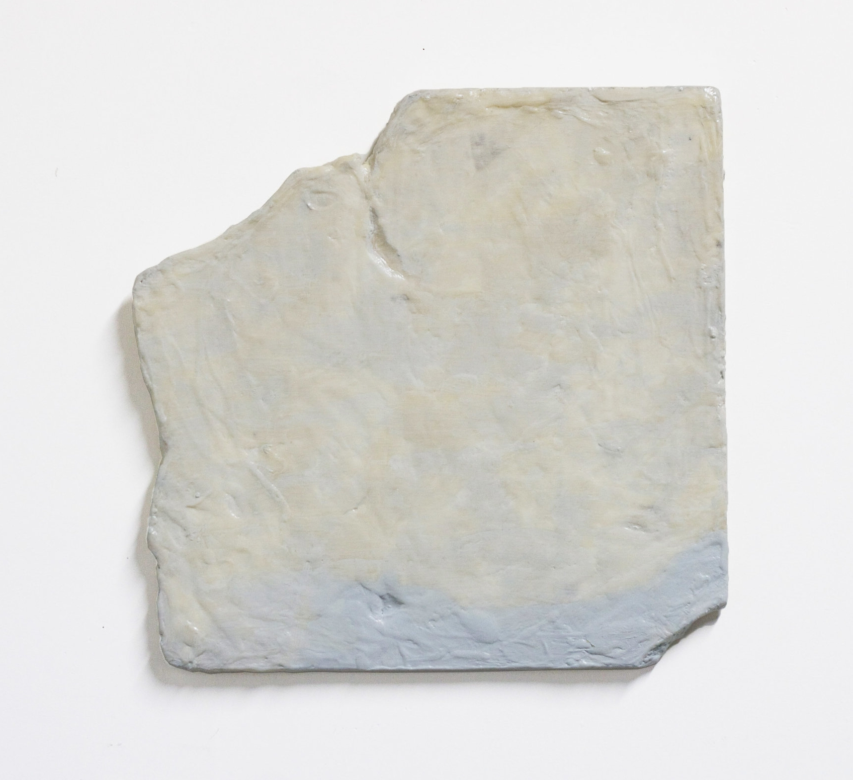 "Blank fragment, 2016  acrylic, resin, foam  20 x 20"""