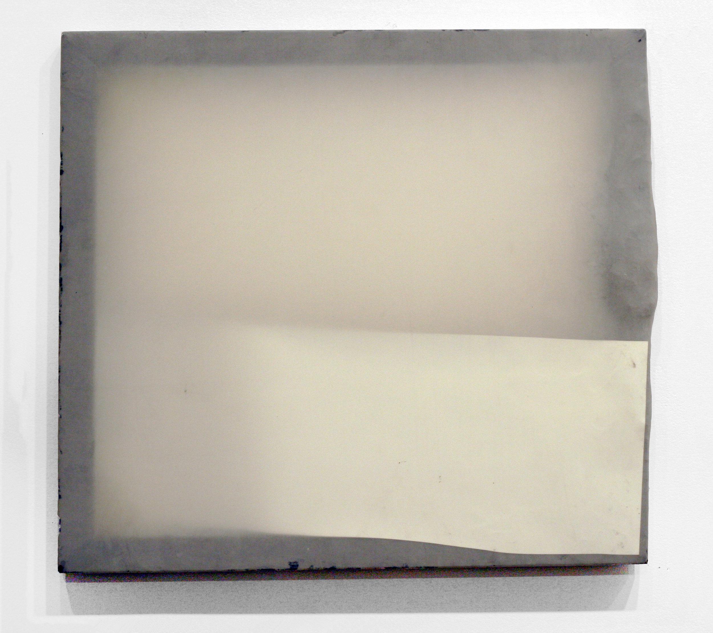 "Focus, 2011   wood, plastic, latex sheet, mylar  24 x 22"""