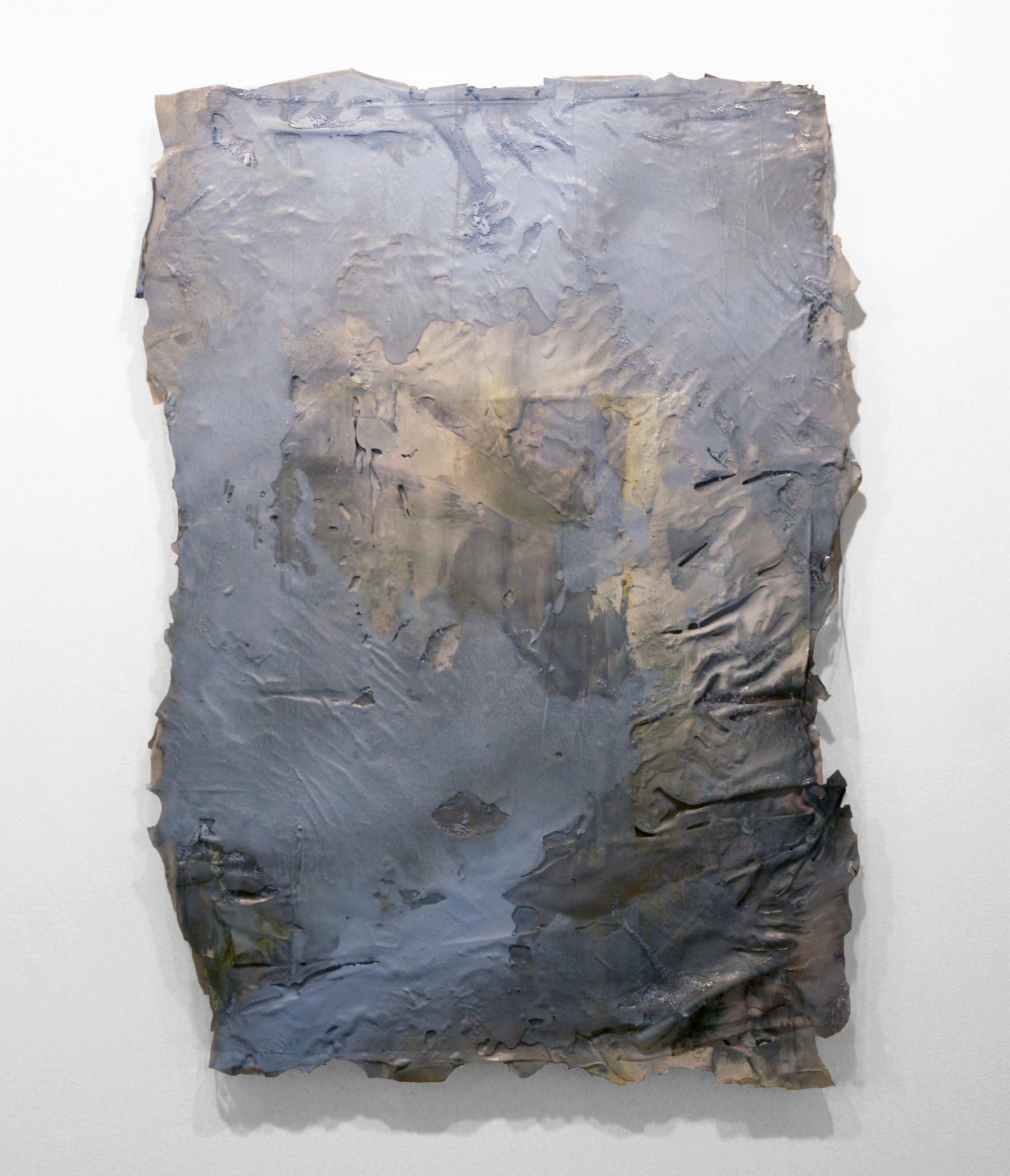 "Untitled, 2011  wood, resin, fabric, acrylic  30 x 48"""