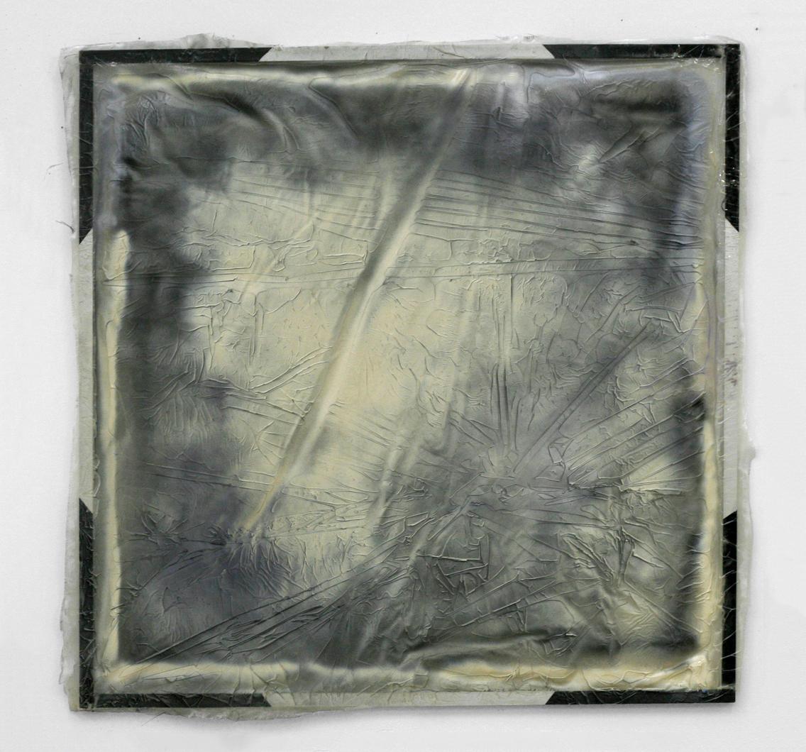 "Untitled, 2011  aluminum, resin, spray paint  48 x 48"""