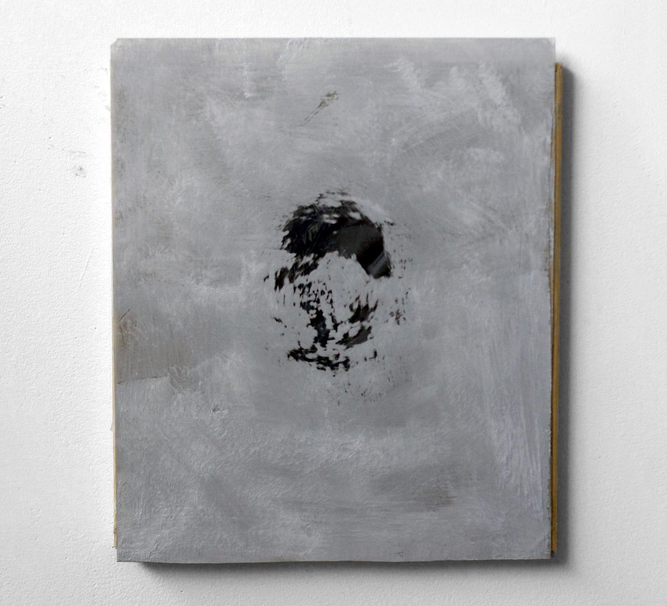 """Untitled, 2010  latex sheet, plexi glas, oil  10 x 12"""""""