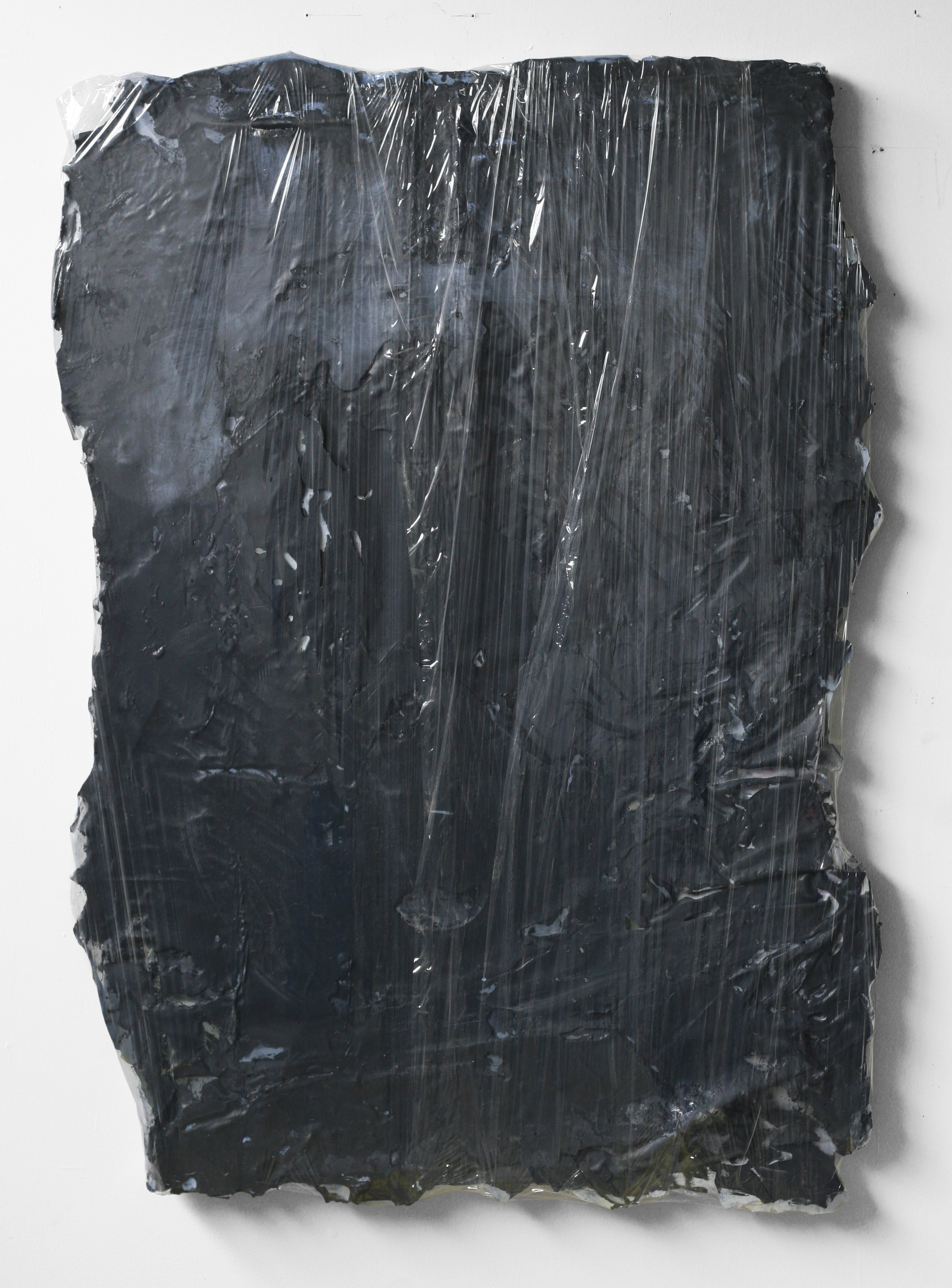 "Untitled, 2011  wood, resin, fabric, acrylic, plastic  30 x 48"""