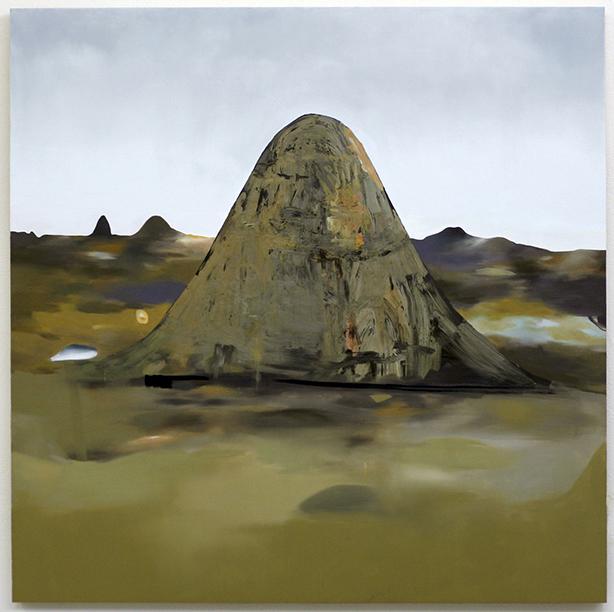 """Untitled, 2008  oil on wood  48"""" x 48"""""""