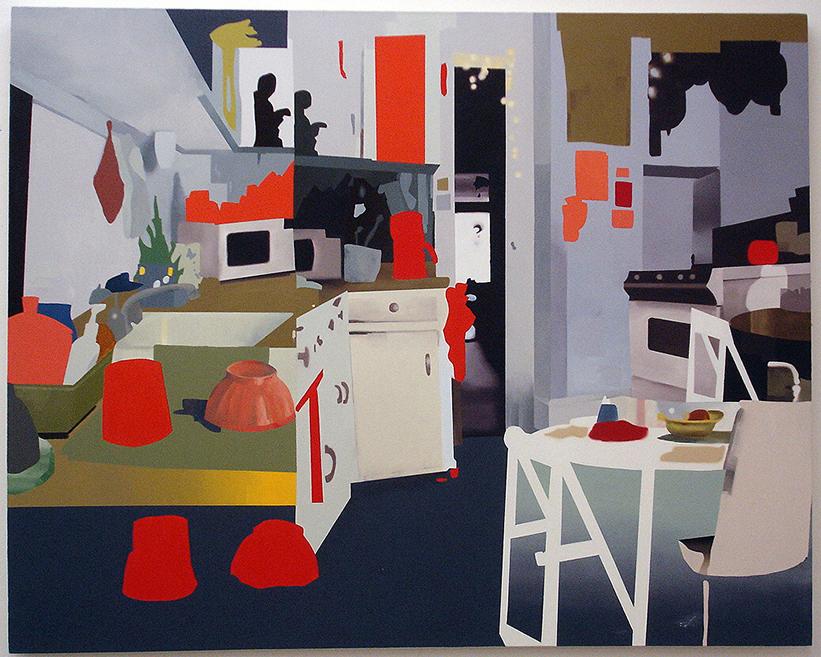 """Kitchen, 2005  oil on canvas  60"""" x 48"""""""
