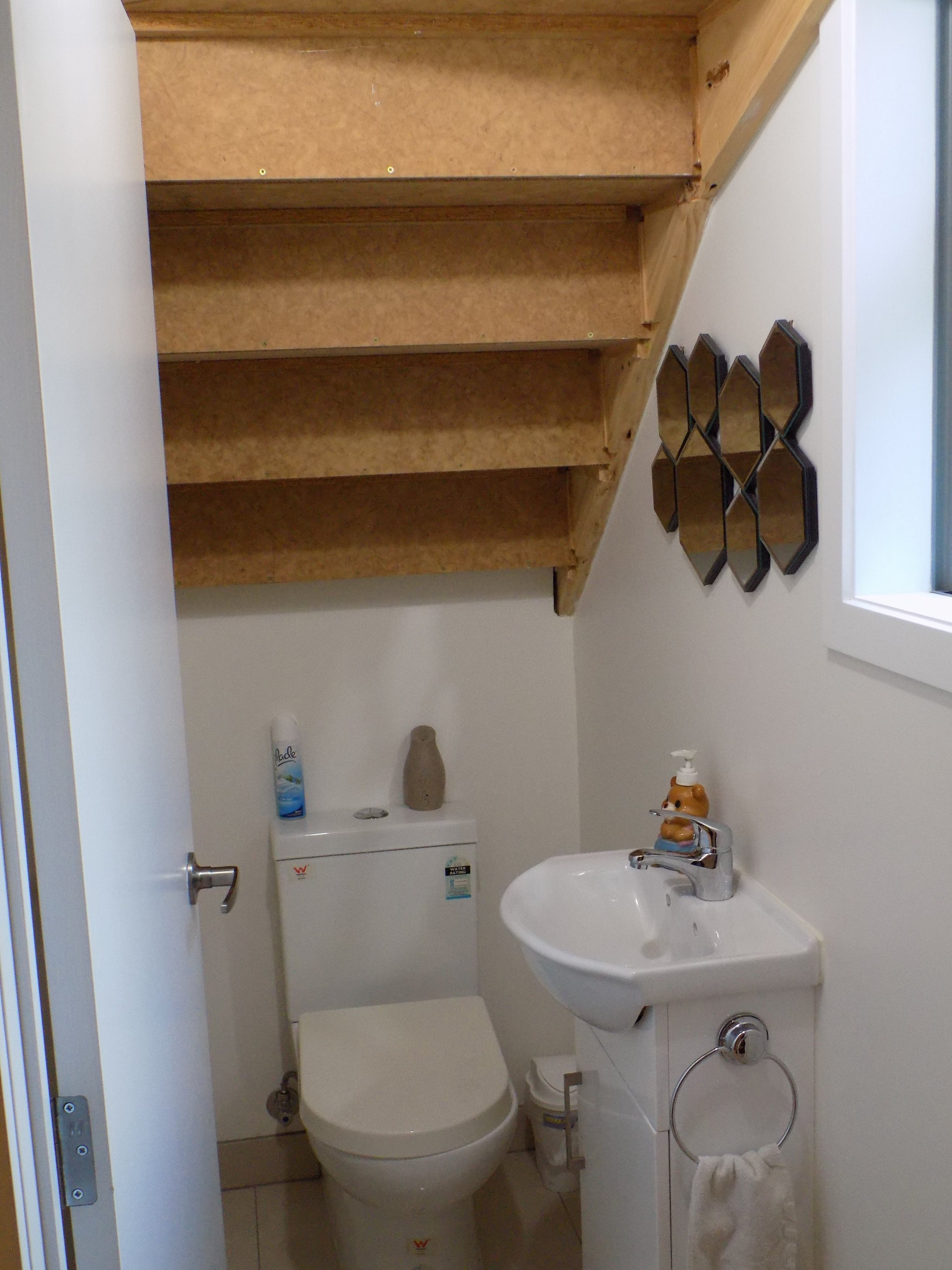 New dwelling toilet under stairs