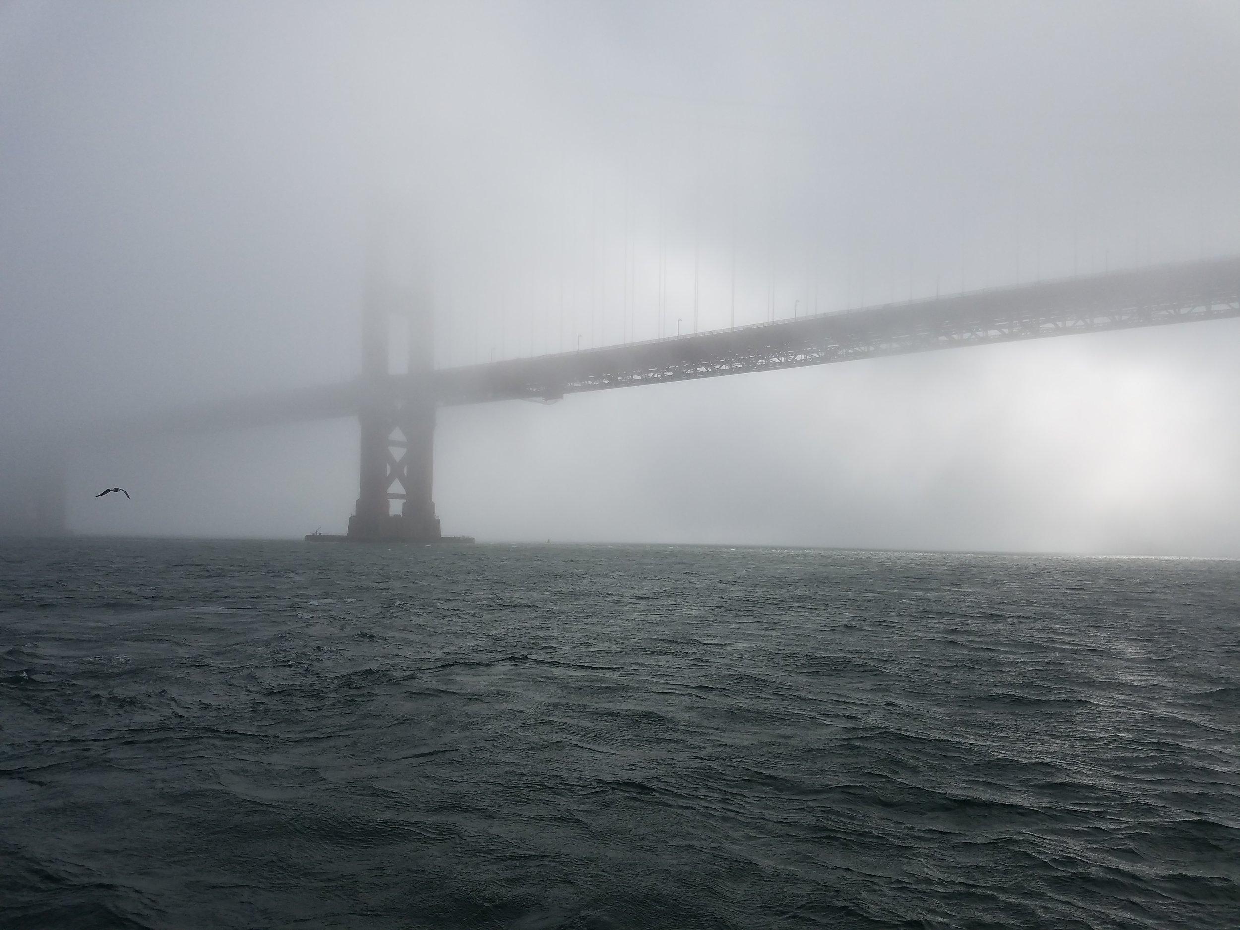 The bridge through the fog.