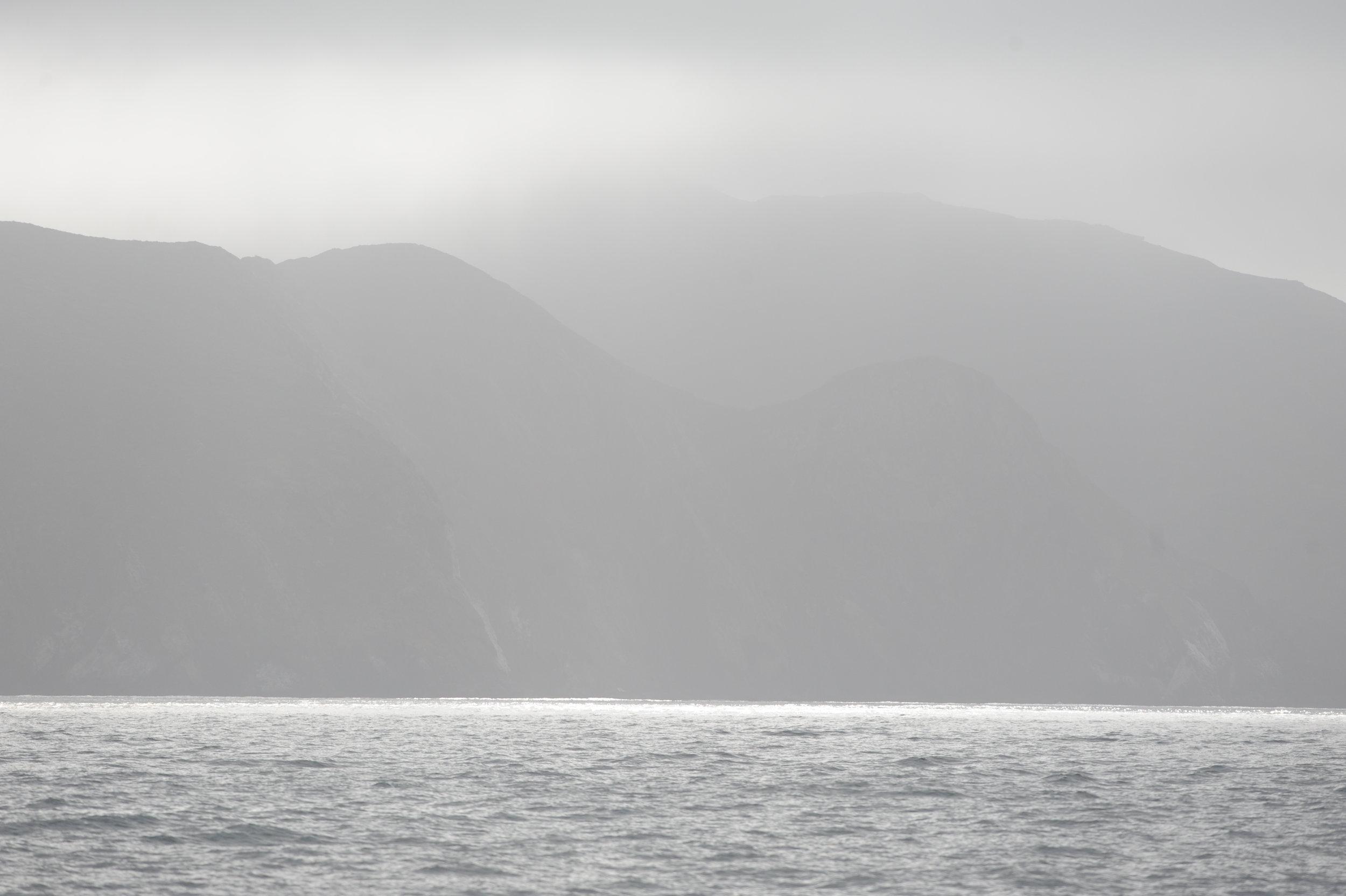 Fog over Marin.