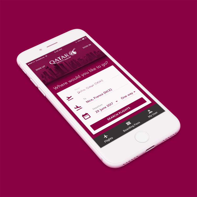 - QATAR AIRWAYS - UI/UX Design