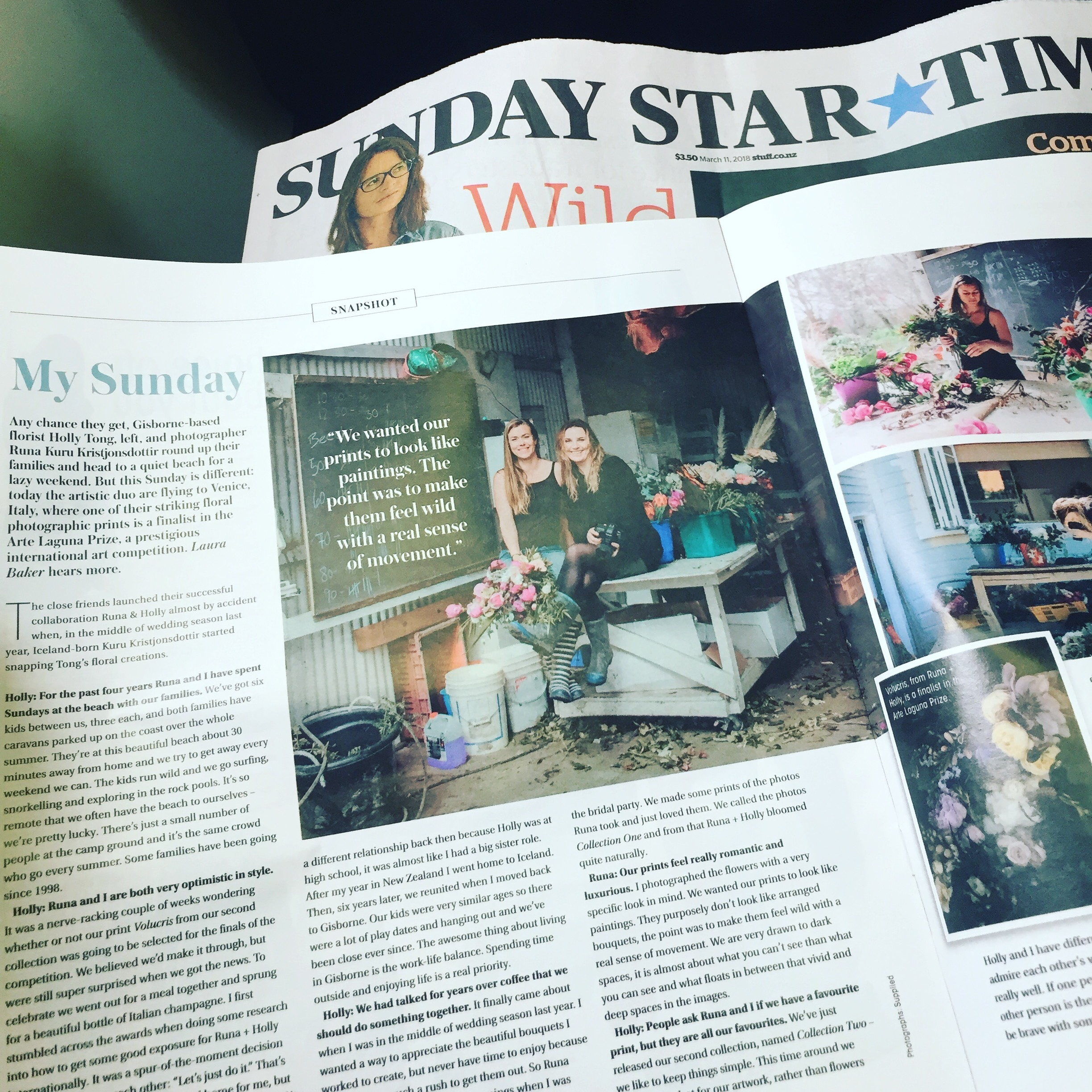 Sunday Star Times, Sunday Magazine.