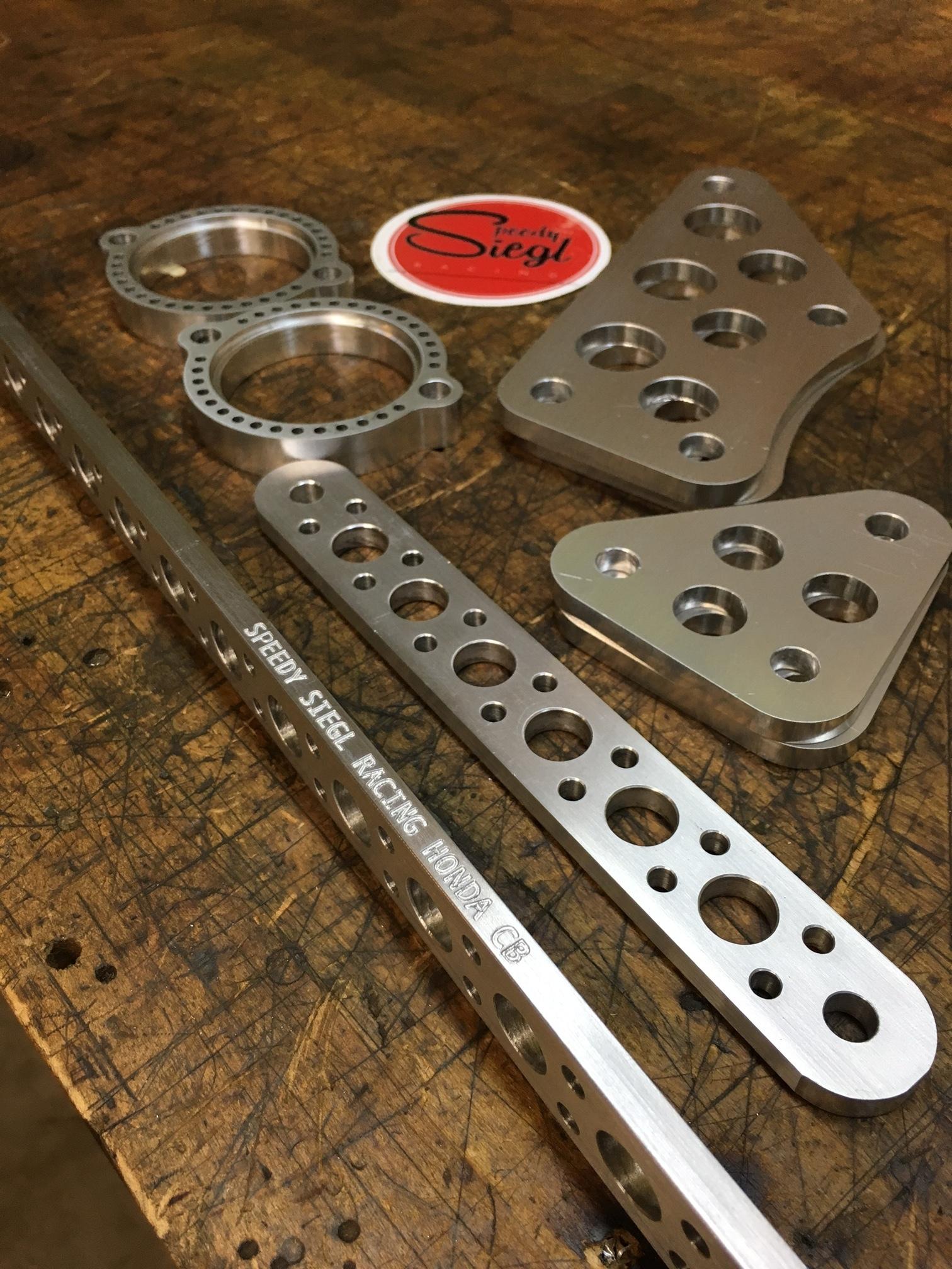 Speedy Siegl racing CB450 CL450 CB500t weight savings lightweight parts package